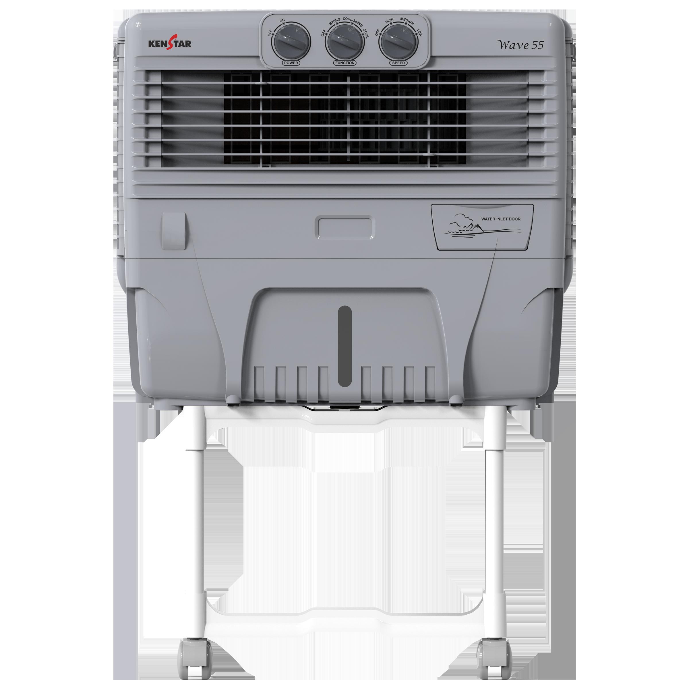 Kenstar Wave55 50 Litres Personal Air Cooler (Inverter Compatible, KCLWAVGY056BMW-EGM, White)_1