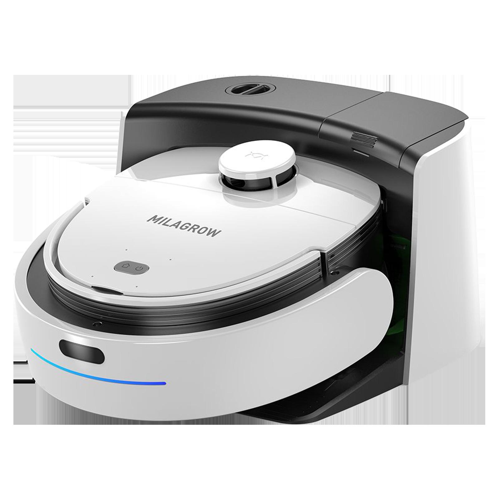 Milagrow IMap Max Zip 55 Watts Robotic Vacuum Cleaner (1 Litres Tank, White)_1