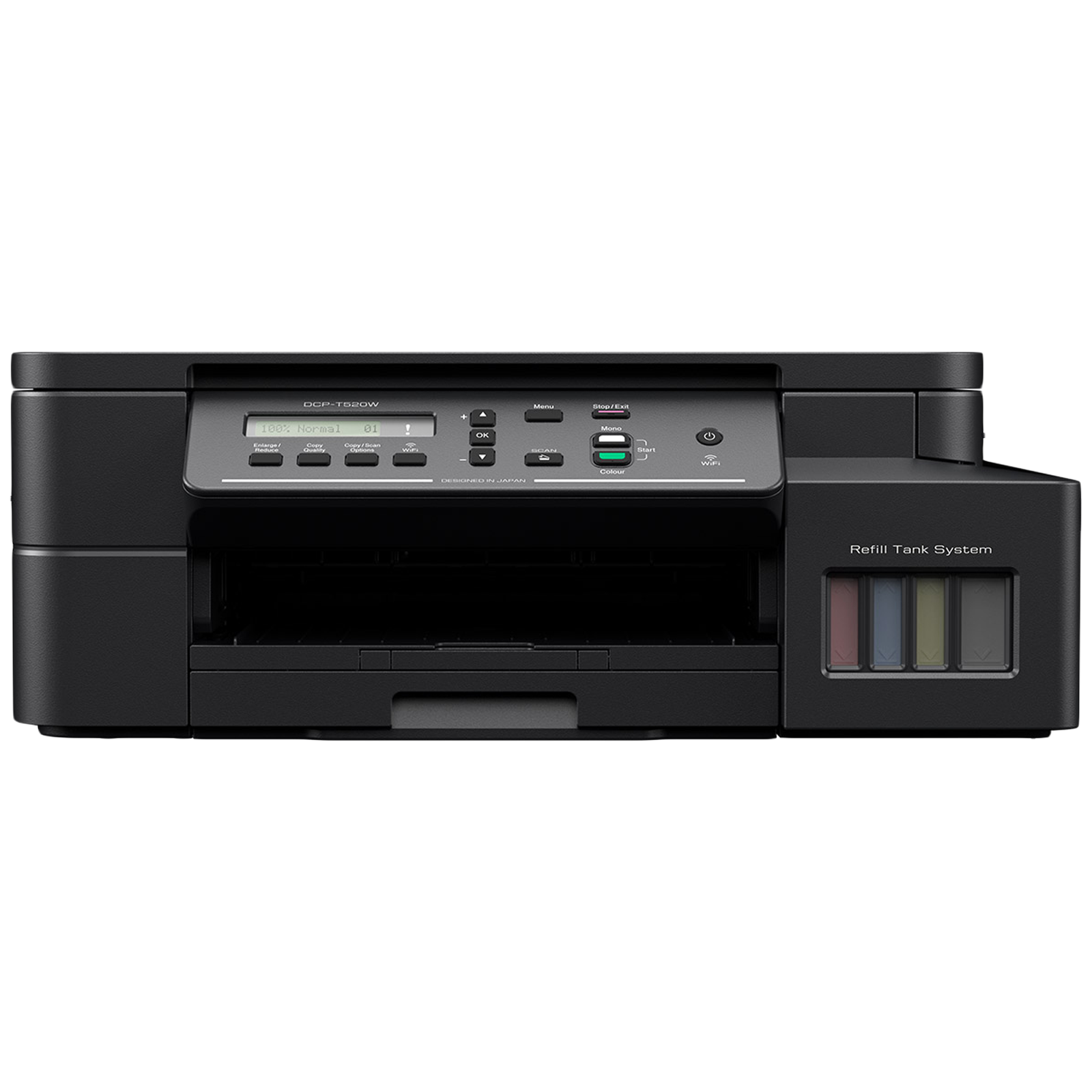 Brother Wireless Color Multi-Function Ink Tank Printer (Duplex Printing, DCP-T520W, Black)_1