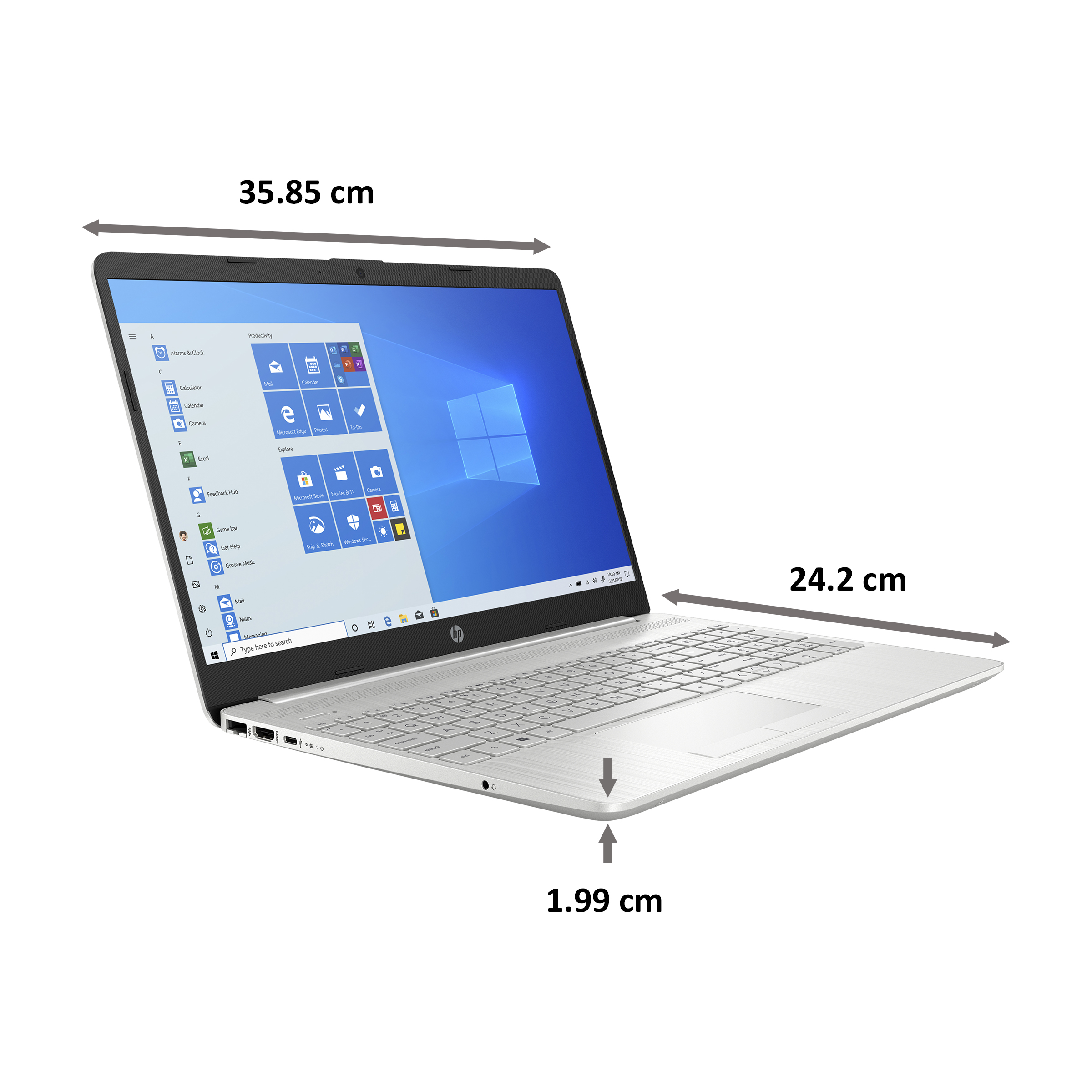 HP 15s-dr3001TU (34W43PA#ACJ) Core i3 11th Gen Windows 10 Home Thin and Light Laptop (8GB RAM, 1TB HDD, Intel UHD Graphics, 39.6cm, Natural Silver) 2