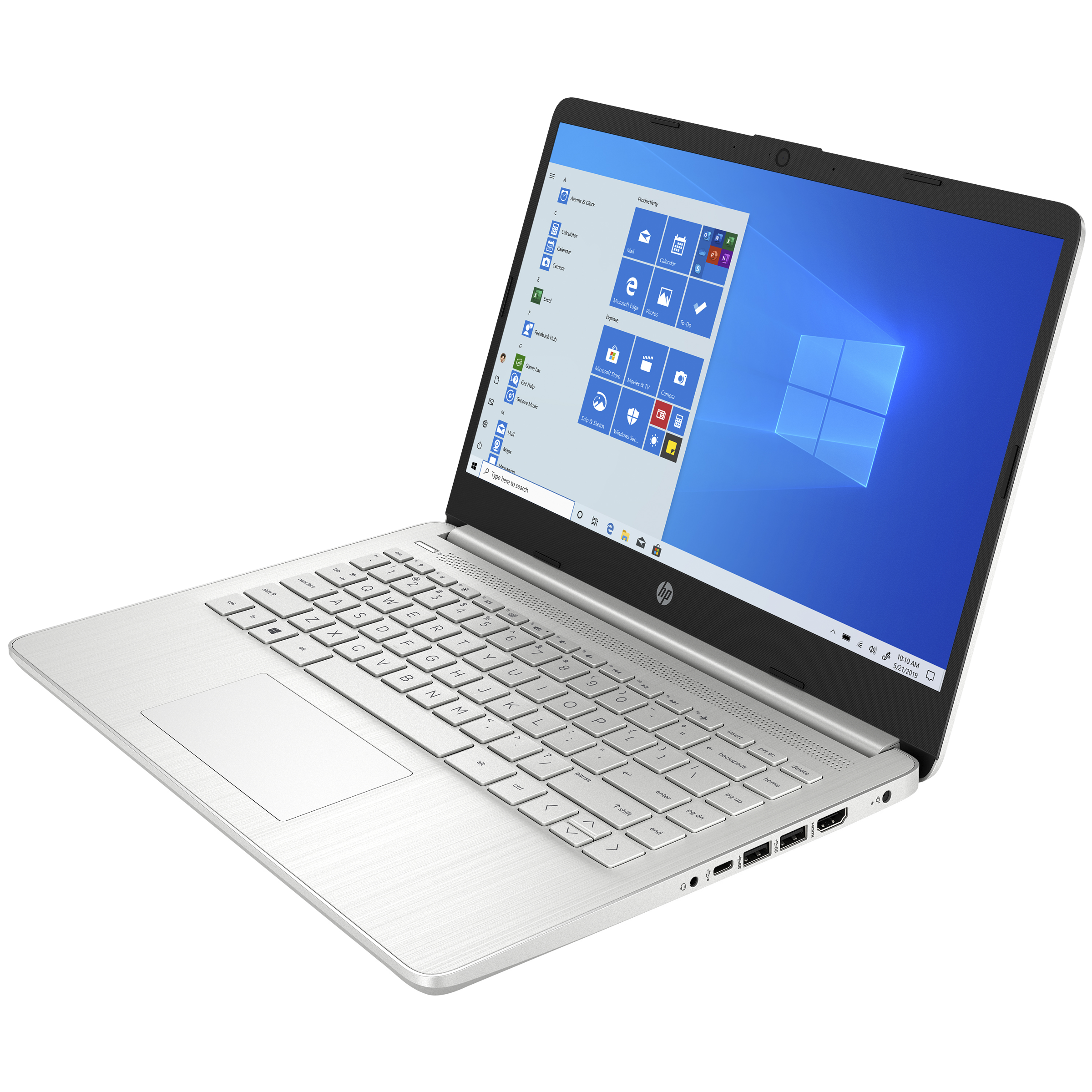 HP 14s-dq2101TU (38Z17PA#ACJ) Core i3 11th Gen Windows 10 Home Laptop (8GB RAM, 256GB SSD, Intel UHD Graphics, MS Office, 35.56cm, Natural Silver)_3