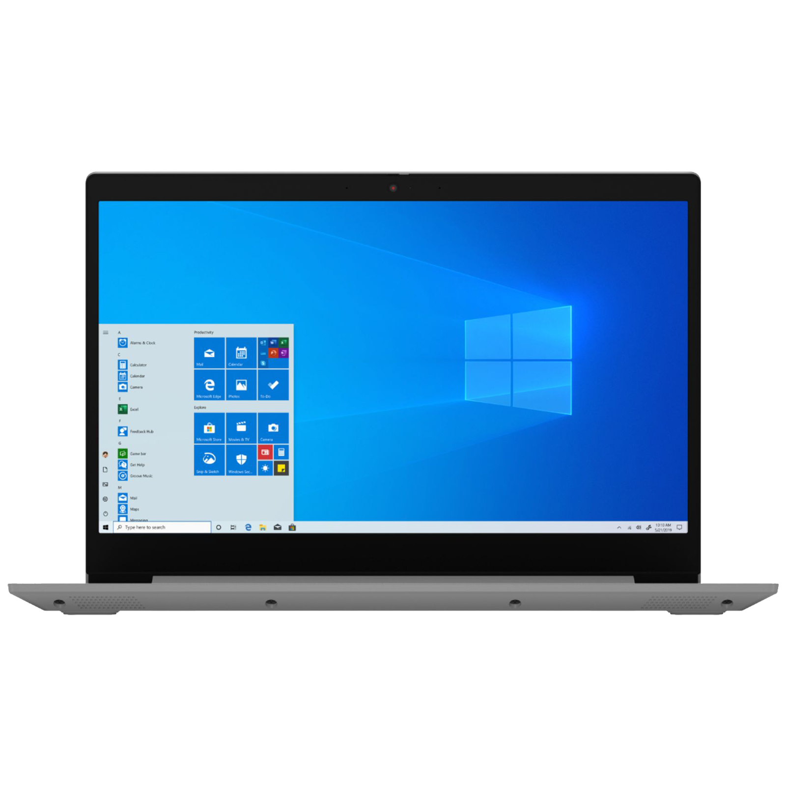 Lenovo Slim 3 (81WB0113IN) Core i3 10th Gen Windows 10 Home Thin and Light Laptop (4GB RAM, 256GB SSD, Intel UHD Graphics, MS Office, 39.62cm, Platinum Grey)_1