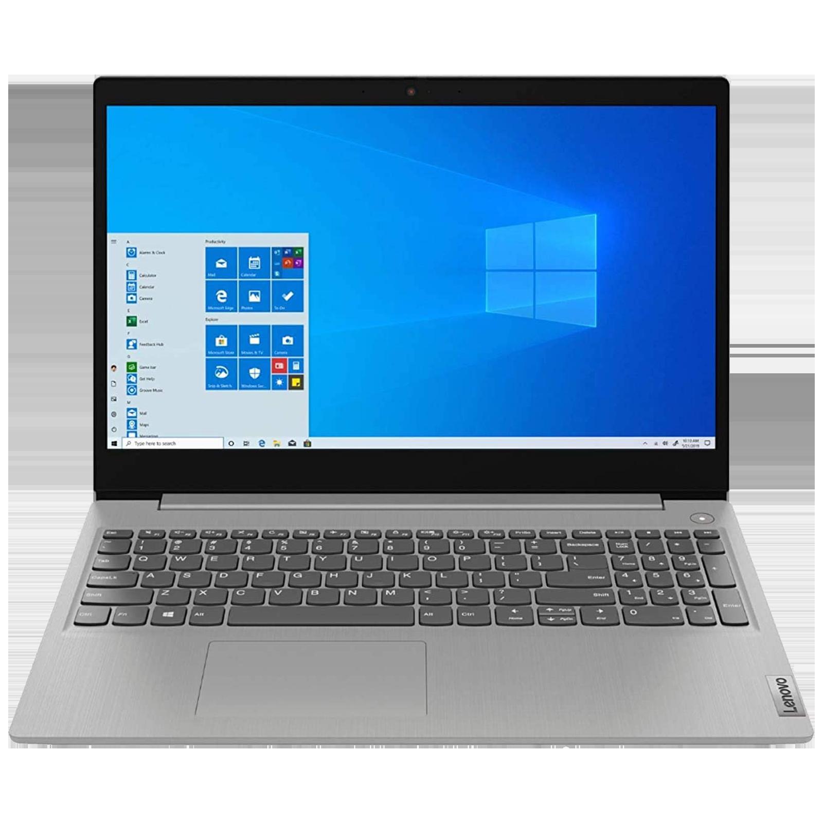 Lenovo Slim 3 (81WB0113IN) Core i3 10th Gen Windows 10 Home Thin and Light Laptop (4GB RAM, 256GB SSD, Intel UHD Graphics, MS Office, 39.62cm, Platinum Grey)_4
