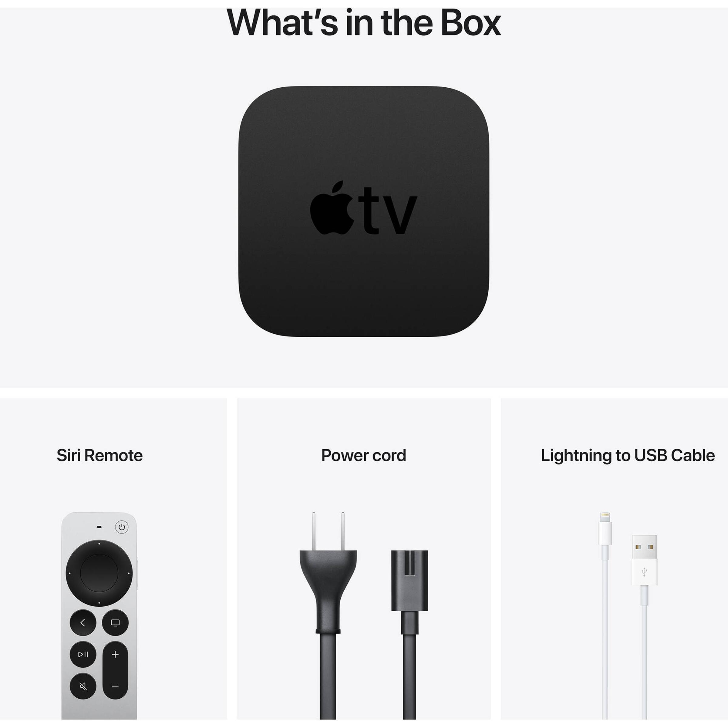 Apple TV 4K 32GB Media Streaming Box (IR Receiver, MXGY2HN/A, Black) 6