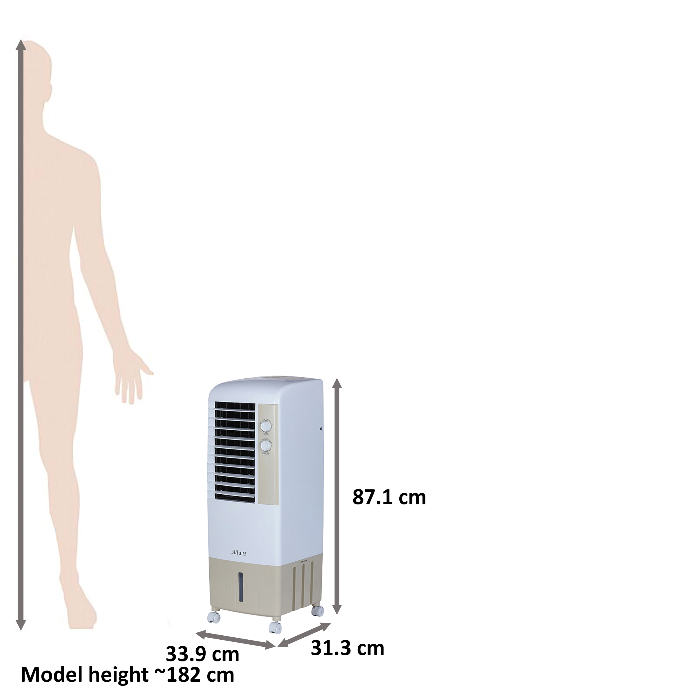 Kenstar Alta 15 Litres Tower Air Cooler (Inverter Compatible, KCLALTGY015BMH-ELM, Golden Yellow)_2