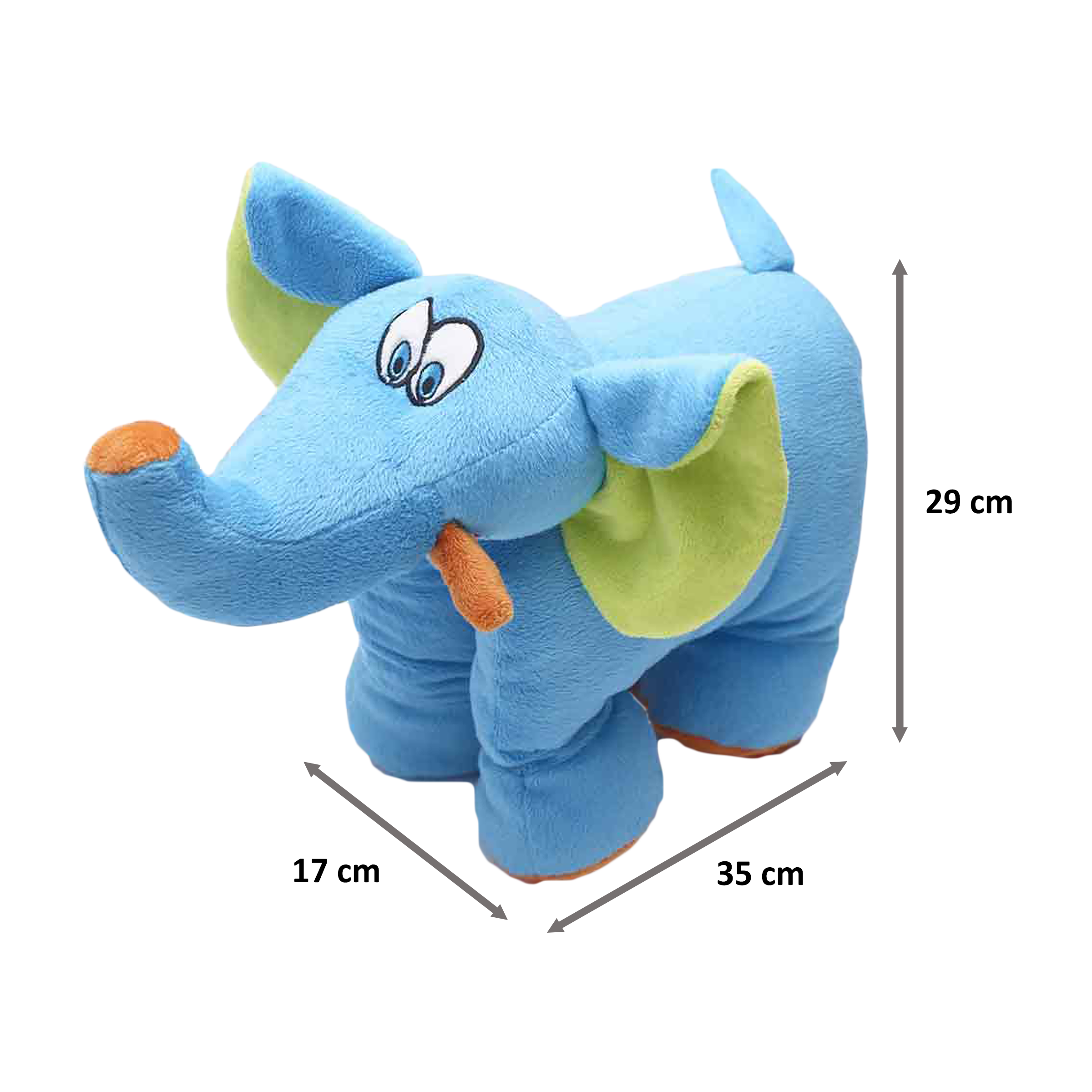 Travel Blue Trunky The Elephant Polyester Neck Pillow (Soft and Comfortable, Multicolor)_2