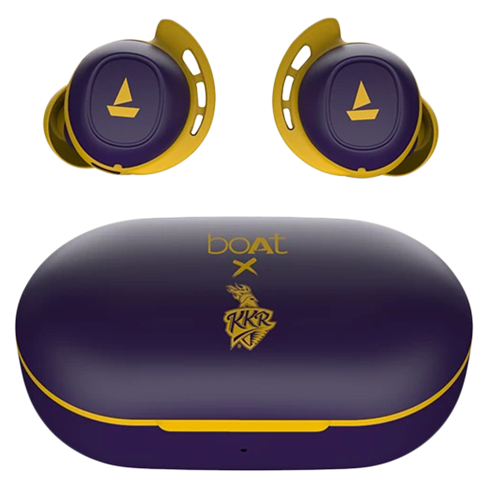 boAt Airdopes 441 KKR Edition In-Ear Truly Wireless Earbuds with Mic (Bluetooth 5.0, Voice Assistant Support, Purple)_1