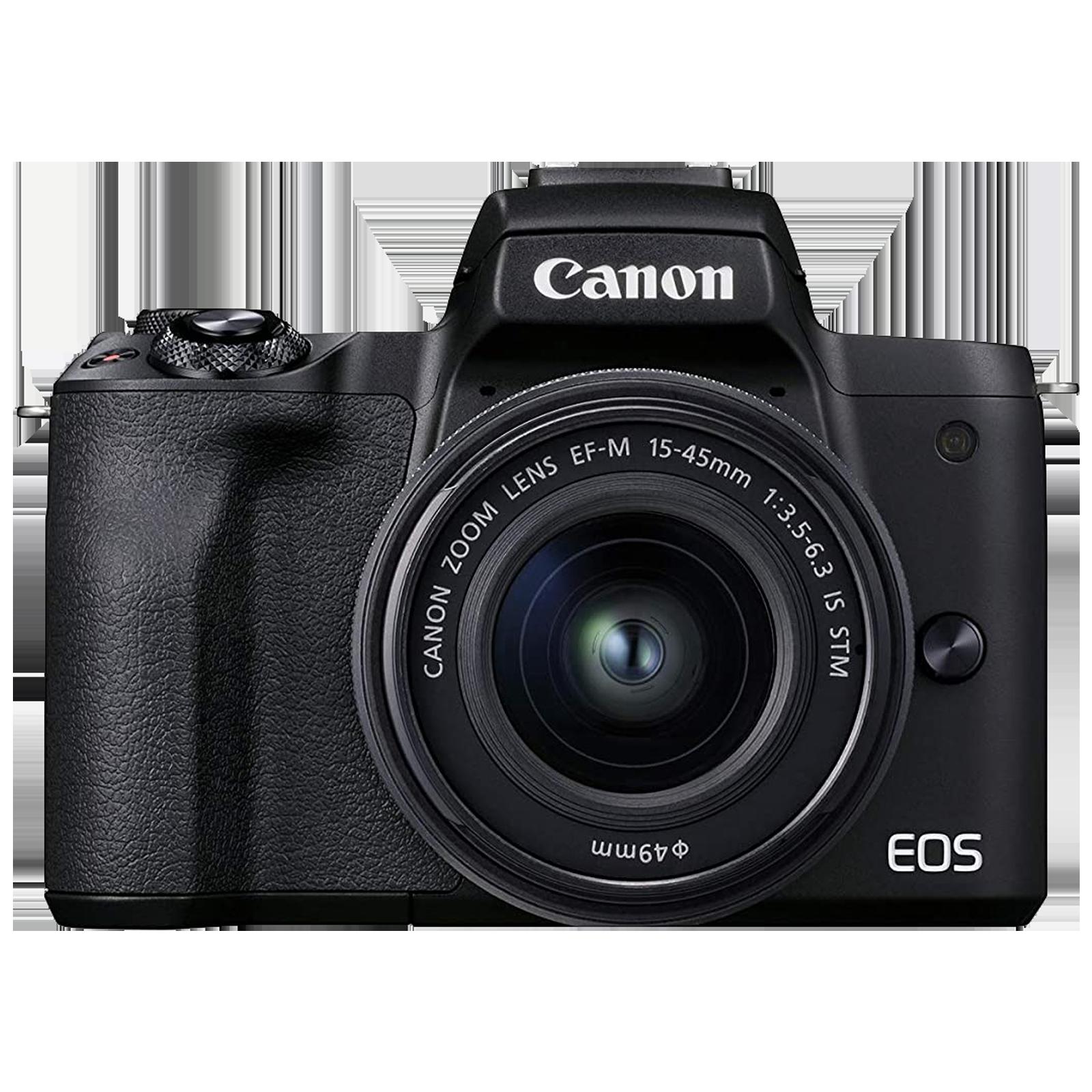 Canon EOS M50 Mark II 24.1MP DSLR Camera (EF-M15-45mm f/3.5-6.3 IS STM Single Lens Kit, Digic 8 Processor, Black)_1