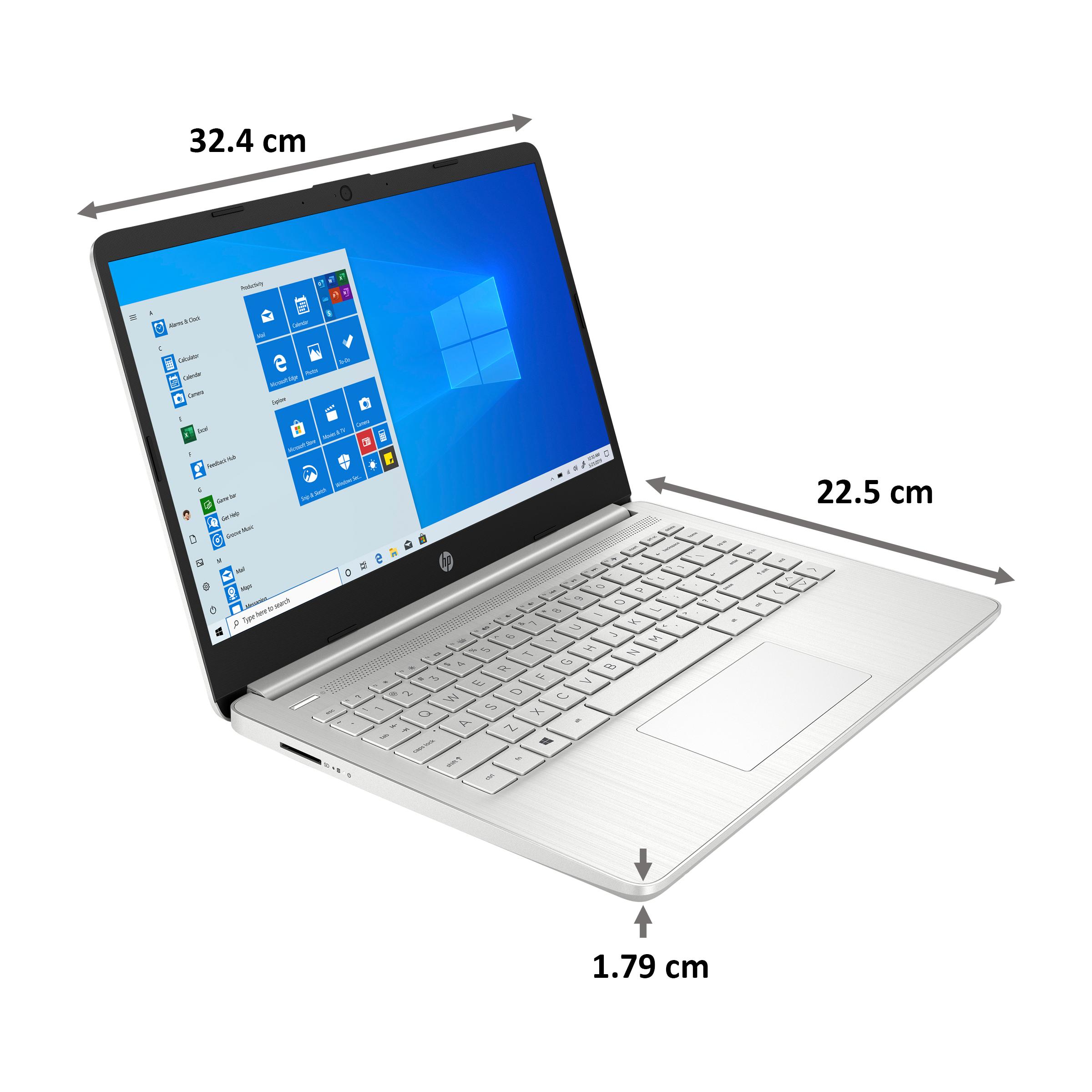 HP 14s-dq2101TU (38Z17PA#ACJ) Core i3 11th Gen Windows 10 Home Laptop (8GB RAM, 256GB SSD, Intel UHD Graphics, MS Office, 35.56cm, Natural Silver)_2