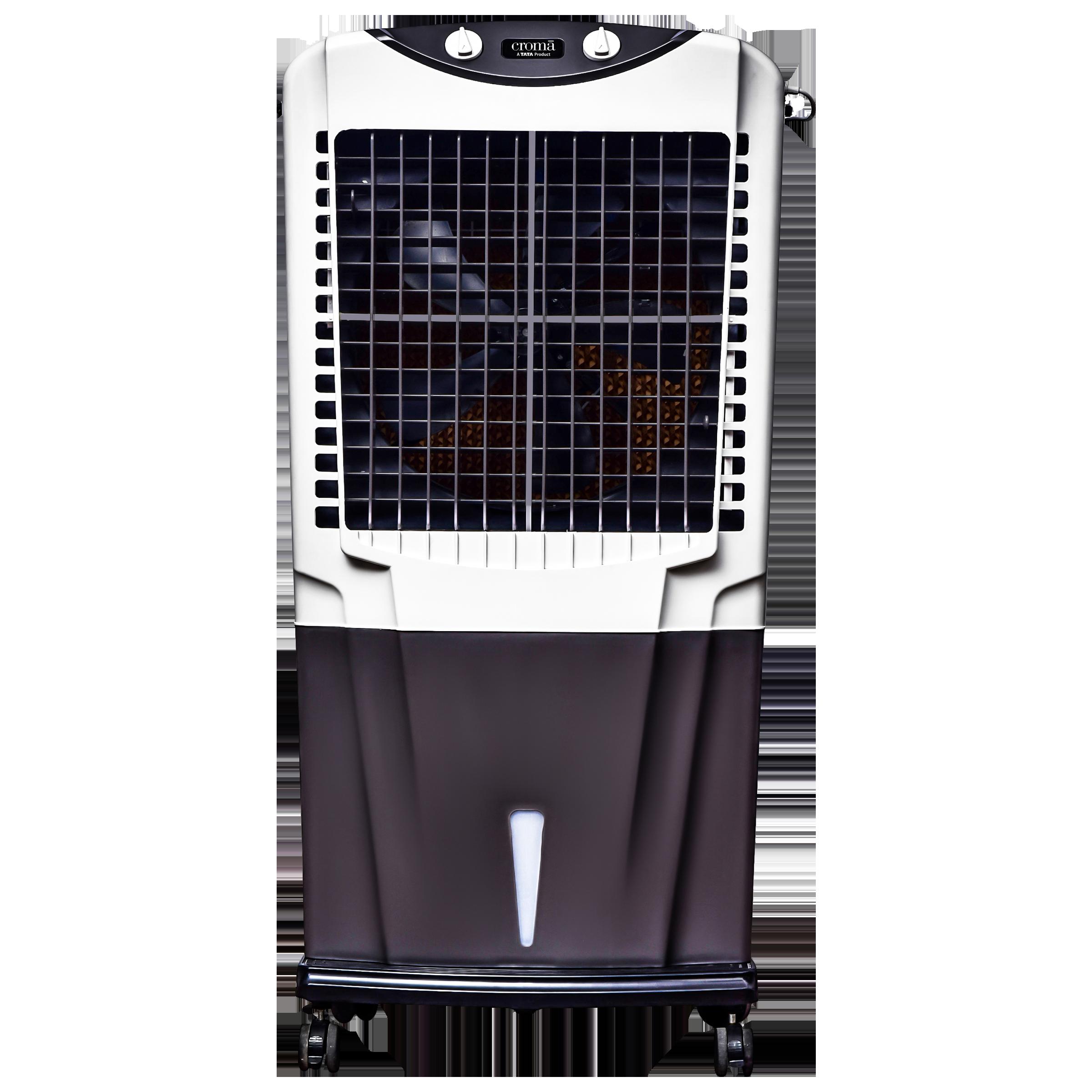 Croma 75 Litres Desert Air Cooler (Inverter Compatible, CRRC1206, White/Grey)_1