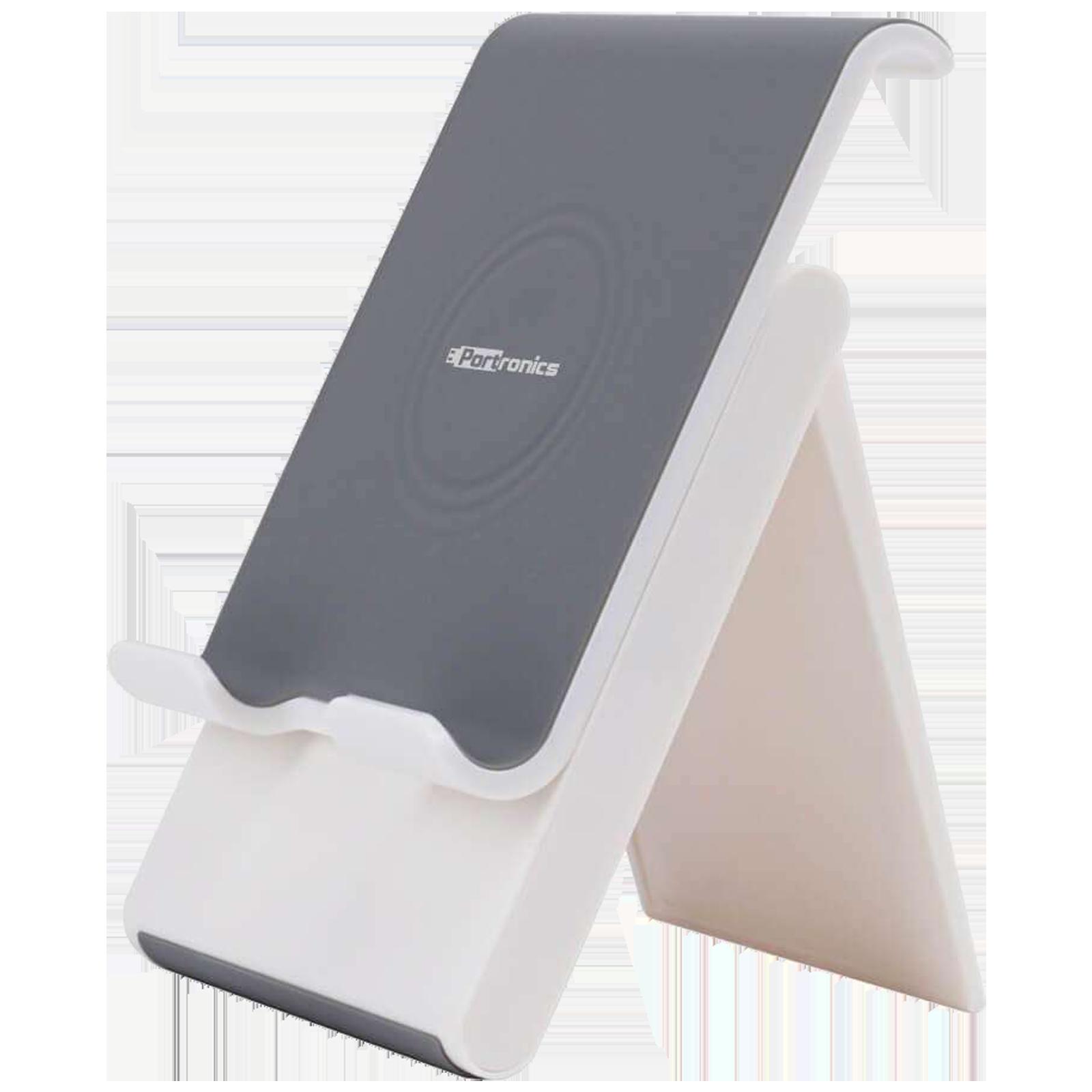 Portronics Paddie Mobile Holder For Mobile & Tablet (Angle Adjustable, POR 1034, White)