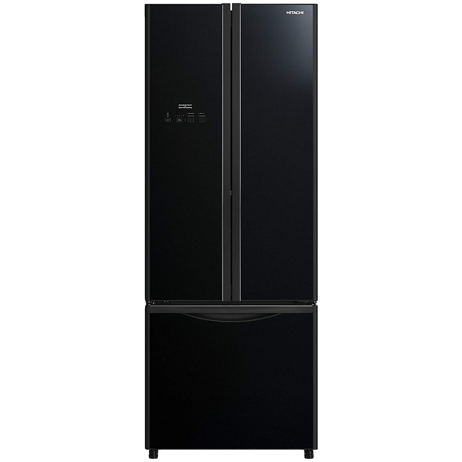 Hitachi 510 Litres Frost Free Inverter French Door Refrigerator (Nano Titanium Filter, R-WB560PND9, Glass Black)_1