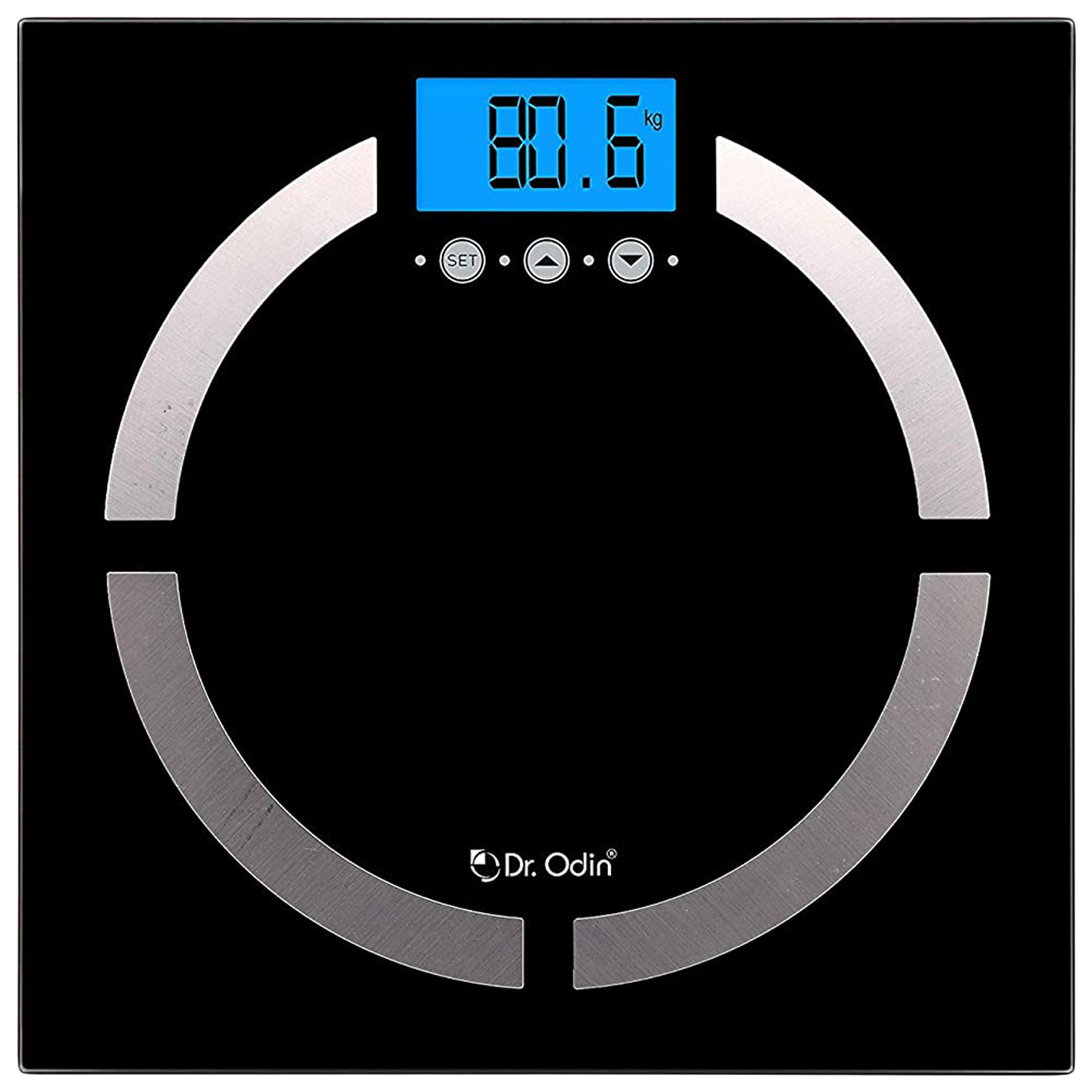 Dr. Odin Weight Scale (4 Sensor Technology, Accurate Reading, CF-570BT, Black)_1