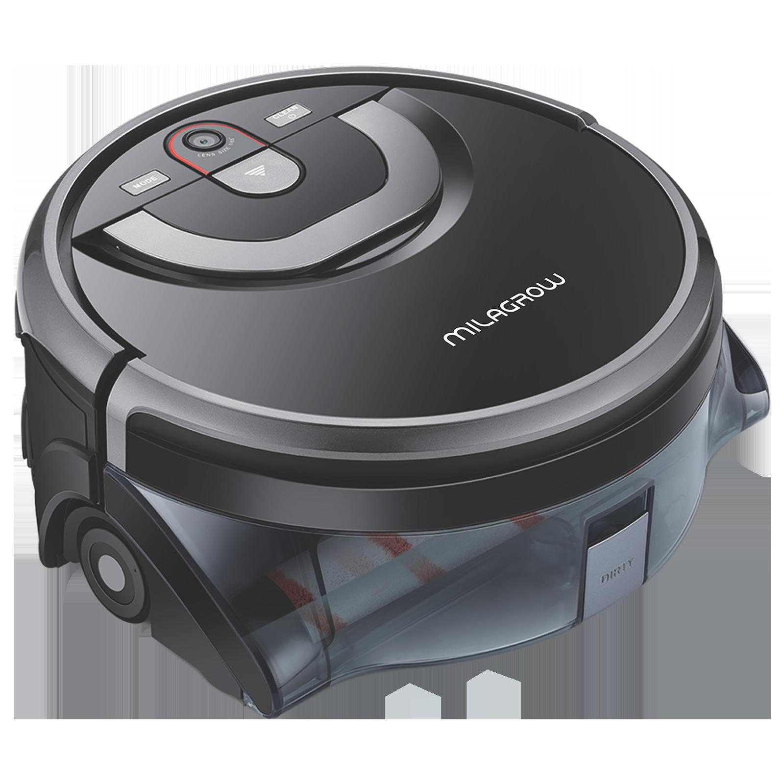 Milagrow AguaBot 21 11.4 Watts Robotic Vacuum Cleaner (0.9 Litres Tank, MGRV25, Black/Silver)_1