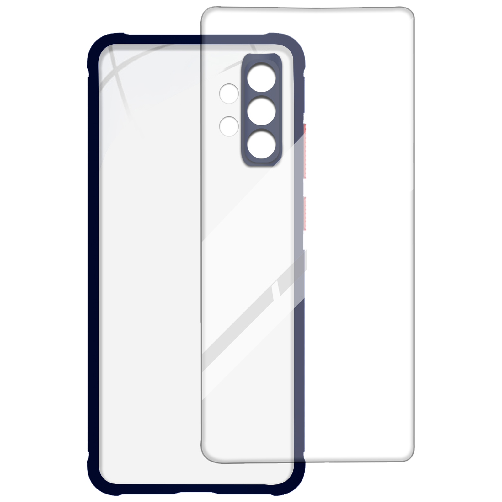 Arrow Hybrid Back Case and Screen Protector Bundle For Samsung Galaxy A32 (Ultra Transparent Visibility, AR-974, Blue)_1