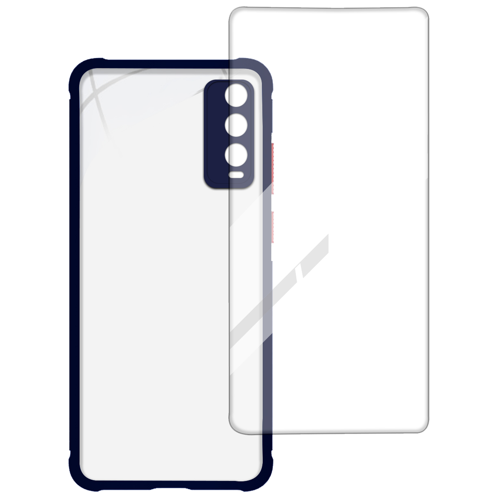 Arrow Hybrid Back Case and Screen Protector Bundle For Vivo Y20G (Ultra Transparent Visibility, AR-994, Blue)_1