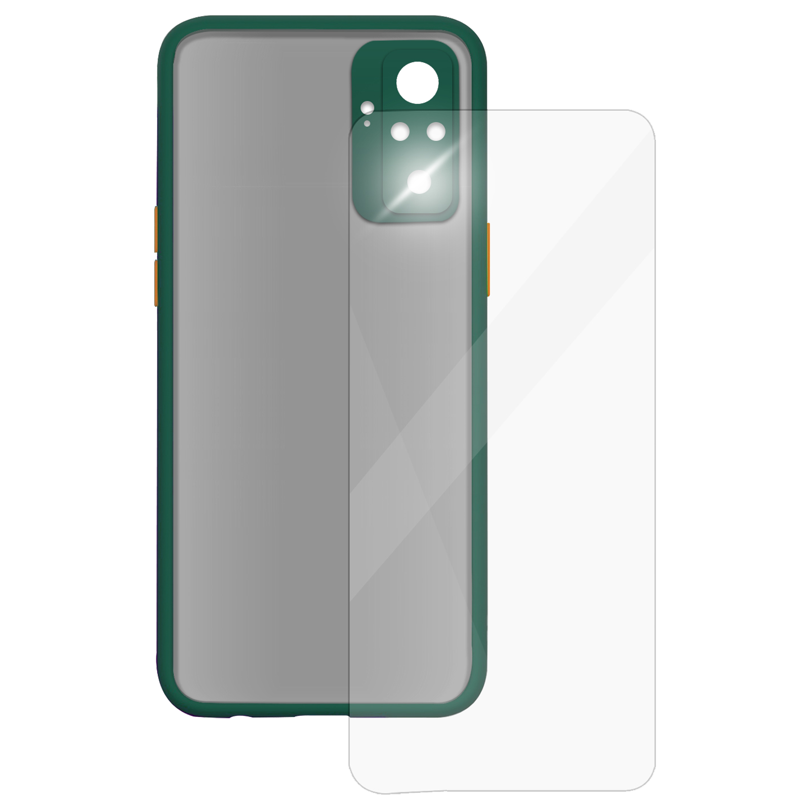 Arrow Camera Duplex Back Case and Screen Protector Bundle For Xiaomi Redmi Note 10 Pro (Ultra Transparent Visibility, AR-1011, Dark Green)_1