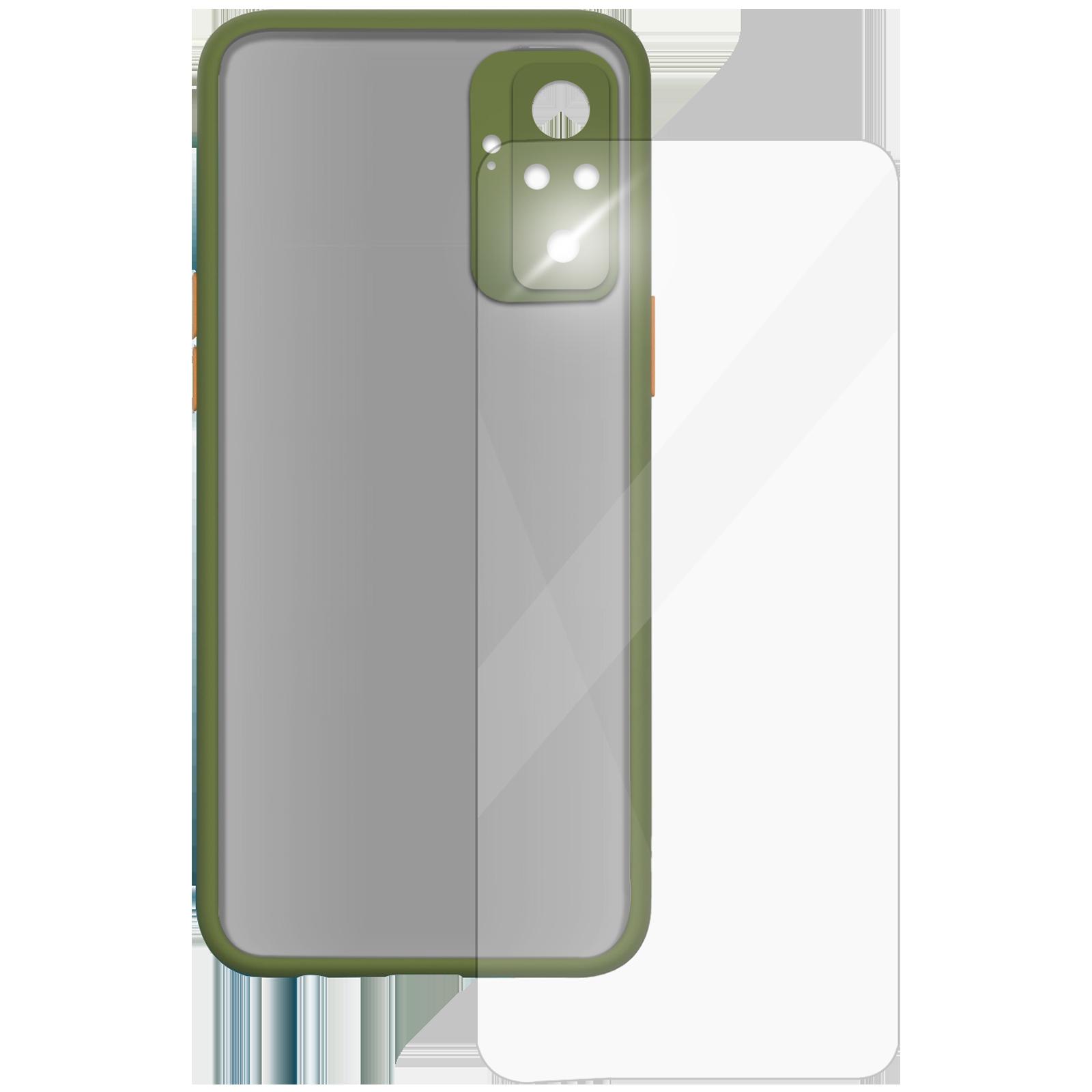 Arrow Camera Duplex Back Case and Screen Protector Bundle For Xiaomi Redmi Note 10 Pro (Ultra Transparent Visibility, AR-1012, Light Green)_1