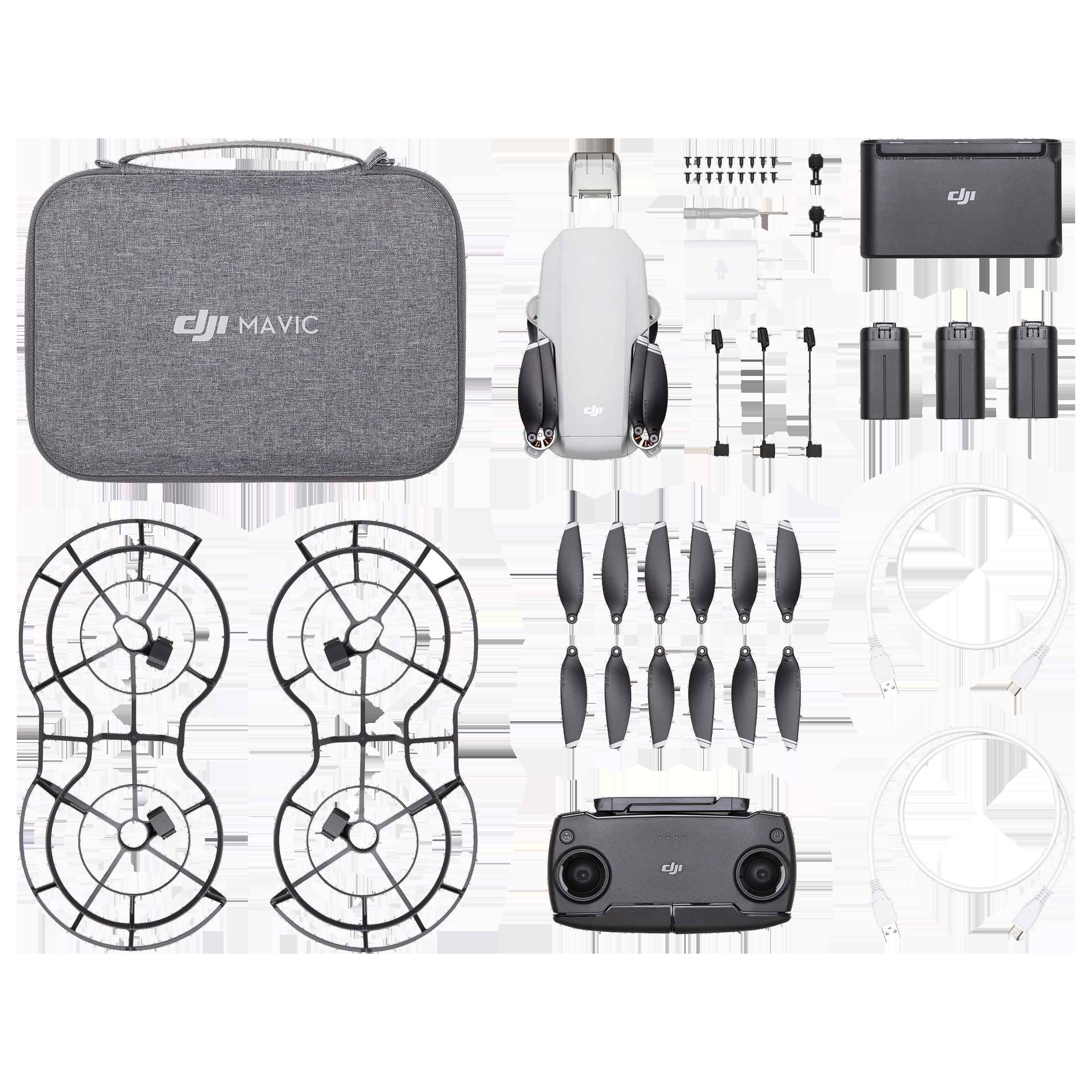 """DJI Mavic Mini Fly More Combo 12MP Drone Camera (1/2.3"""" CMOS Sensor, CP.MA.00000131.01, Grey)_1"""