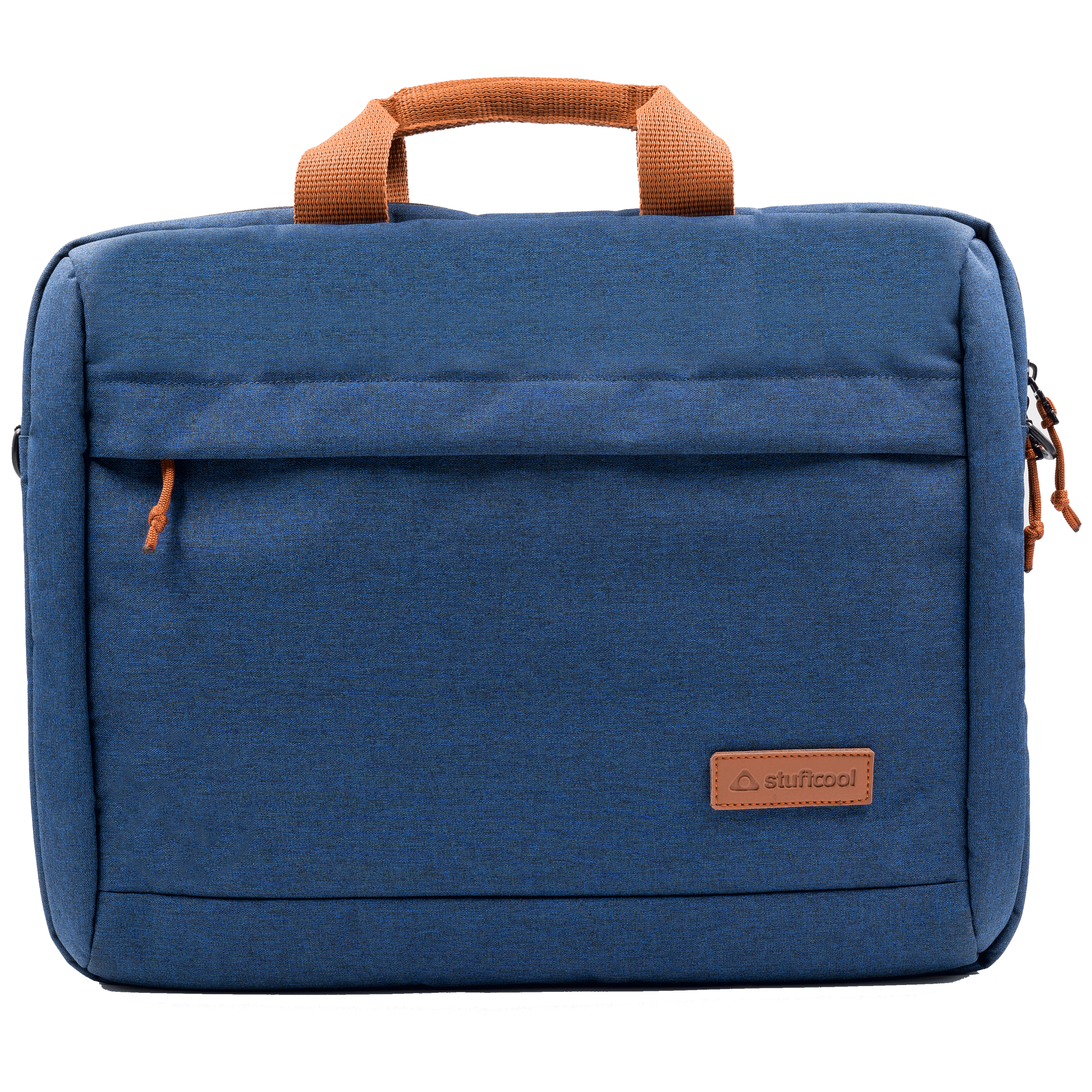 Stuffcool Magnus 29 Litres Heathered Texture Polyester Fabric Sling Bag for 15.4 Inches Laptops and 16 Inches Macbook (Detachable Shoulder Strap, MGSLBG154-DBLU, Blue)_1