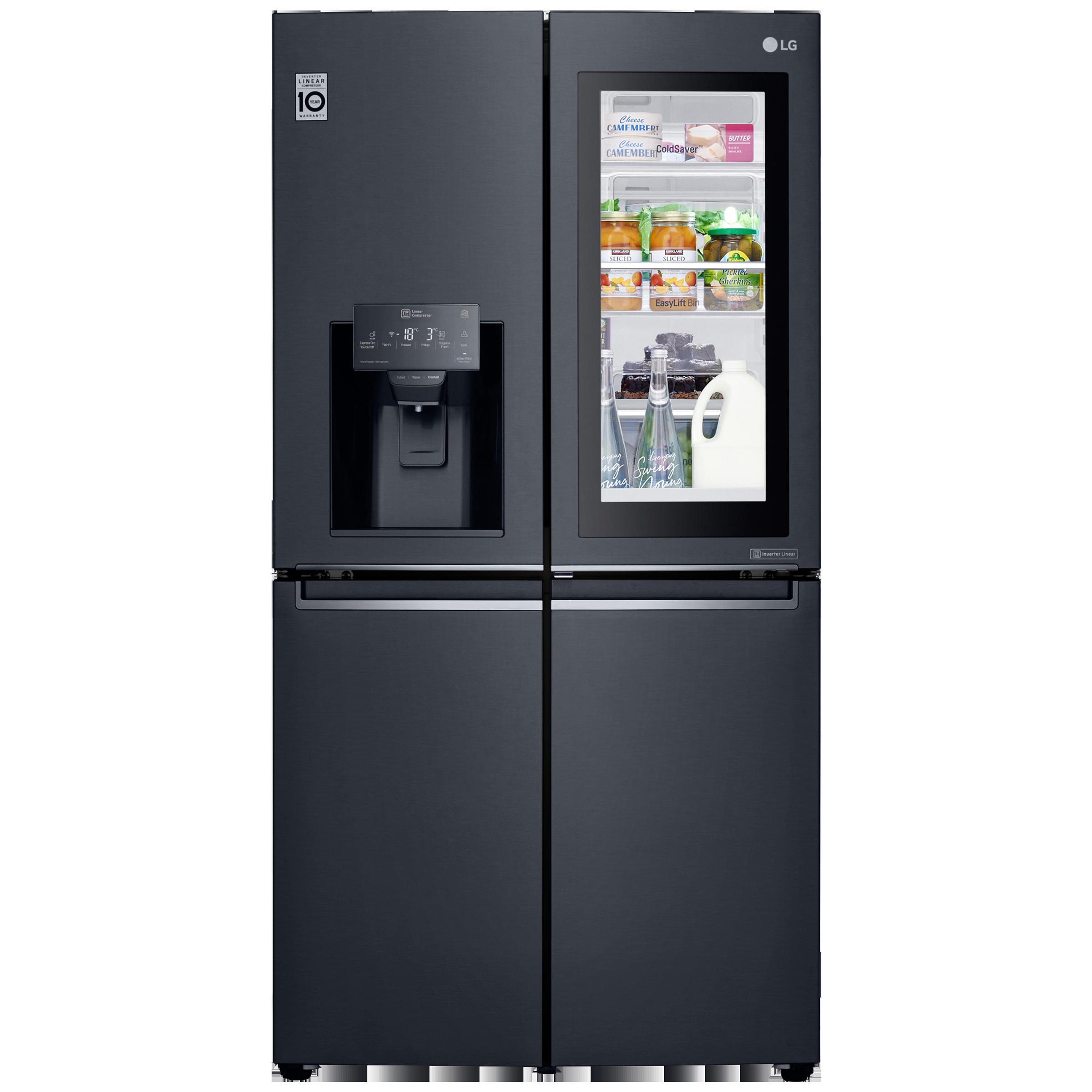 LG 889 Litres 2 Star Frost Free Inverter Linear French Door Refrigerator (InstaView Door-in-Door, GR-X31FMQHL, Matt Black)_1