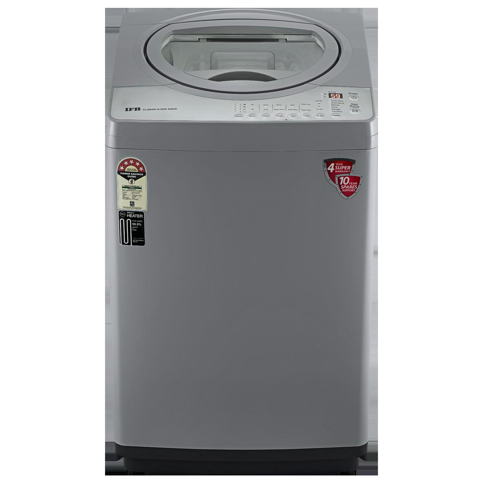 IFB Aqua 6.5 kg 5 Star Fully Automatic Top Load Washing Machine (Built-In Heater, TL-RSSH, PCM - Light Grey)_1