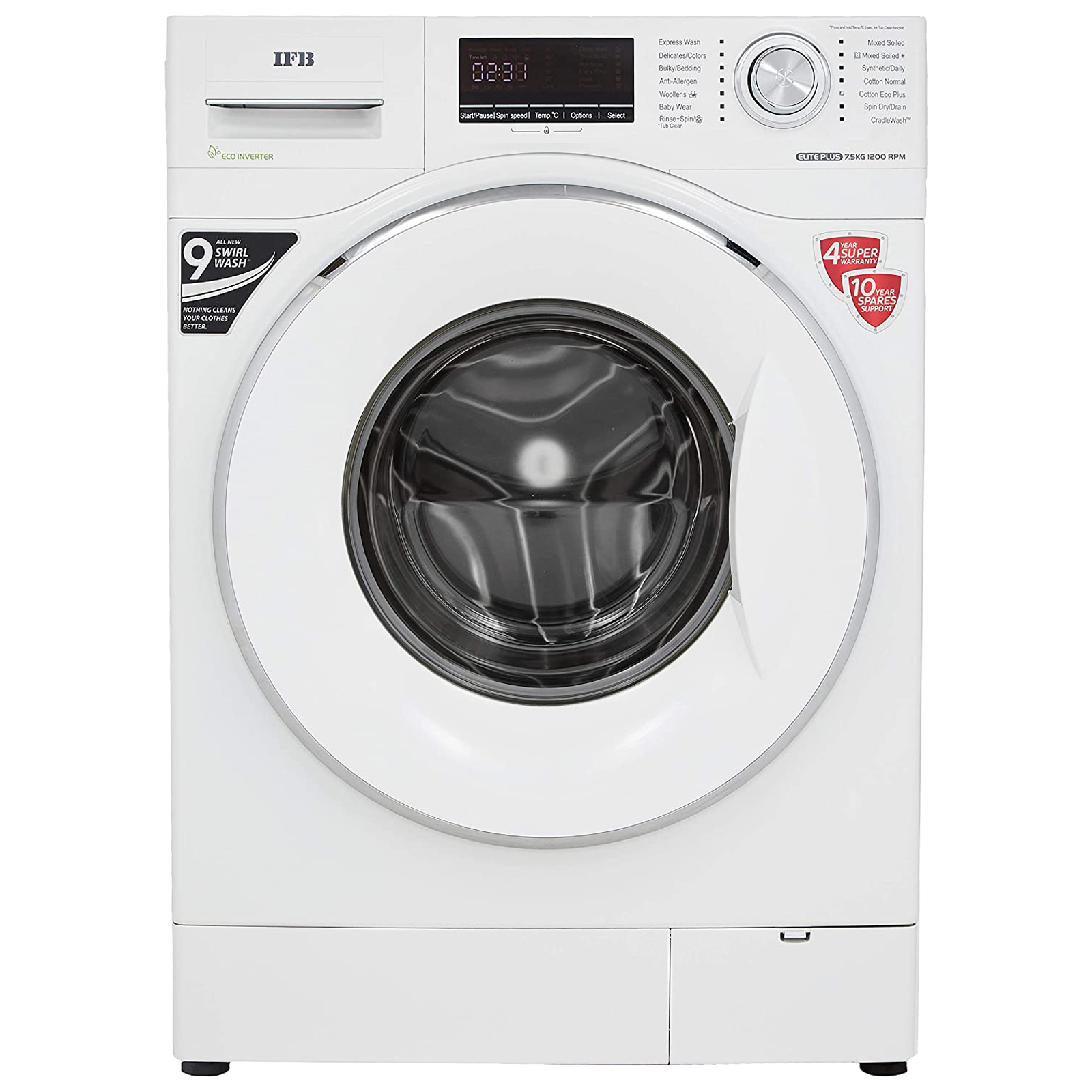 IFB Elite Plus VX ID 7.5 kg 5 Star Fully Automatic Front Load Washing Machine (Built-in Heater, White)_1
