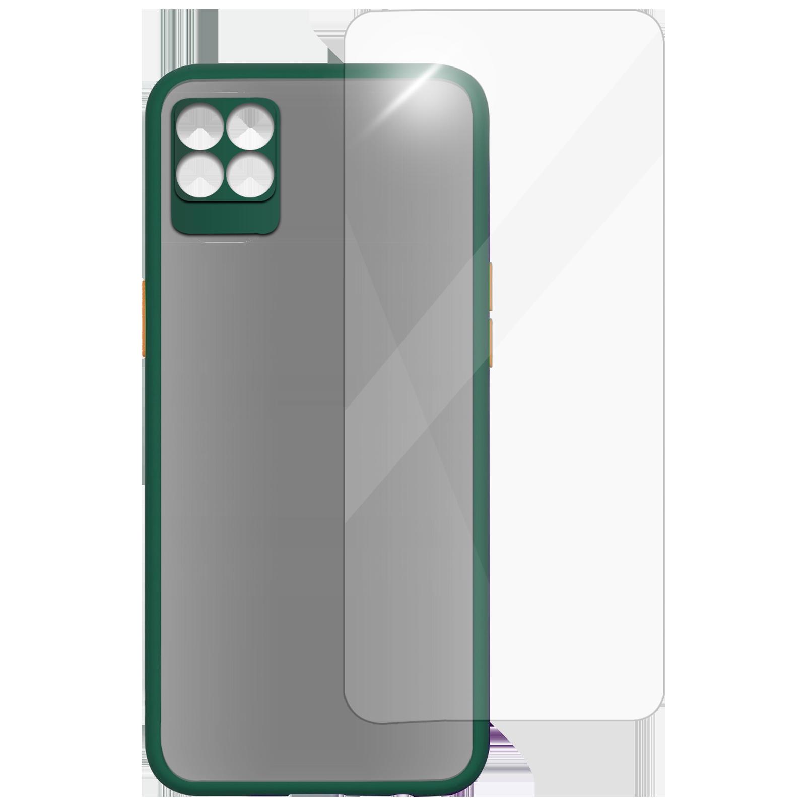 Arrow Camera Duplex Back Case and Screen Protector Bundle For Realme 8 (Ultra Transparent Visibility, AR-1041, Dark Green)_1