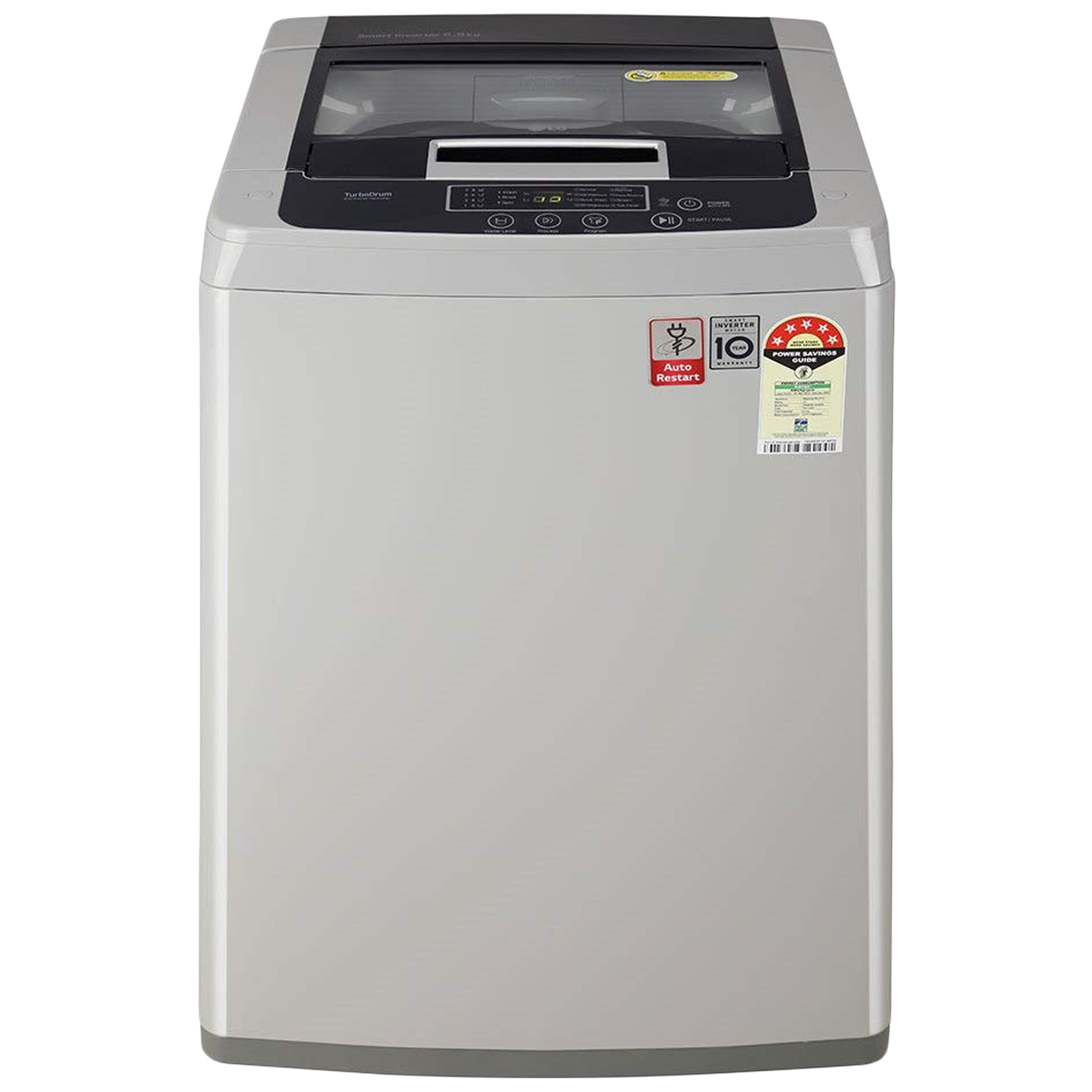 LG 6.5 kg 5 Star Fully Automatic Top Load Washing Machine (Smart Diagnosis, T65SKSF1Z.ASFQEIL, Middle Free Silver)_1
