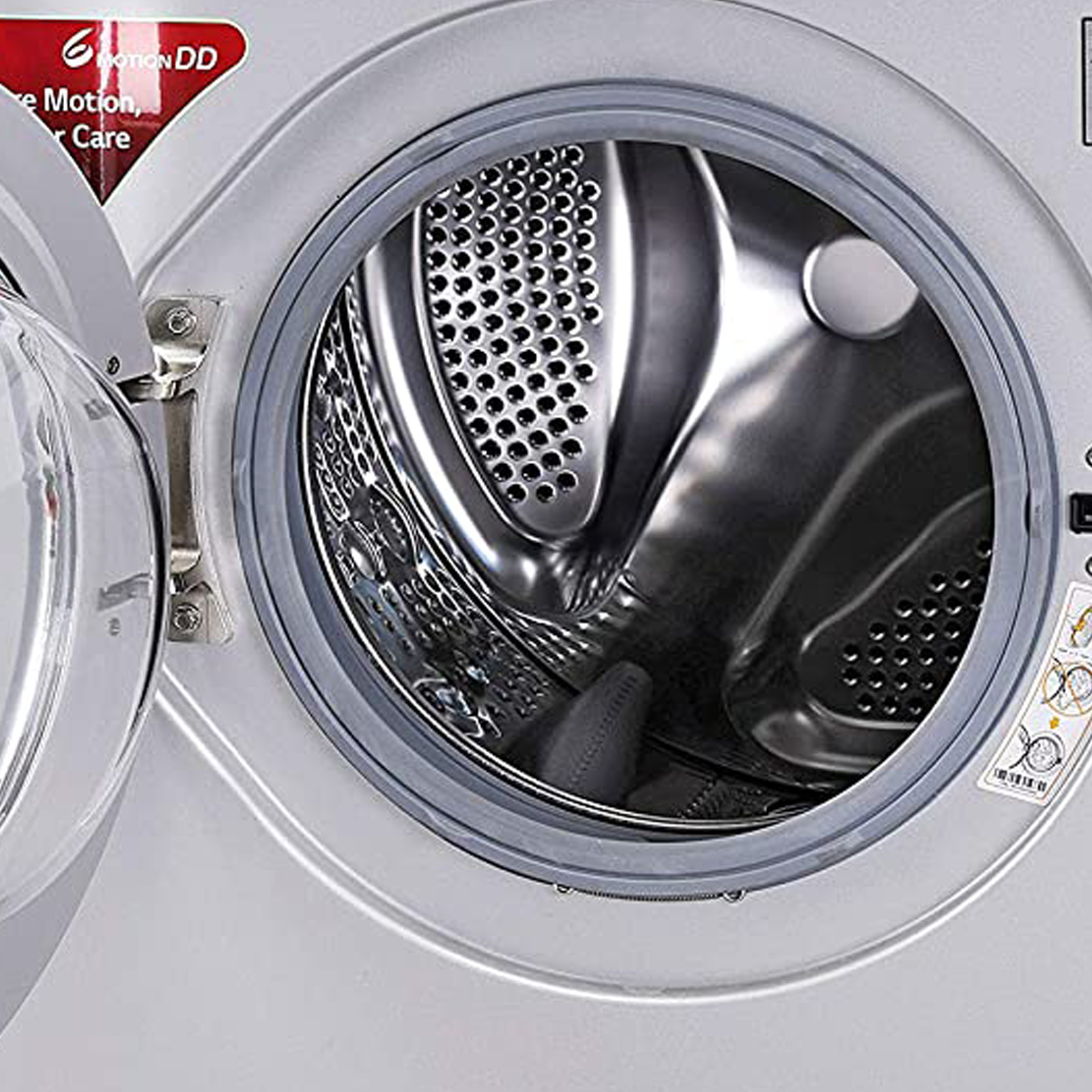 LG 7 kg 5 Star Fully Automatic Front Load Washing Machine (Smart Diagnosis, FHM1207ZDL.ALSQEIL, Luxury Silver) 4