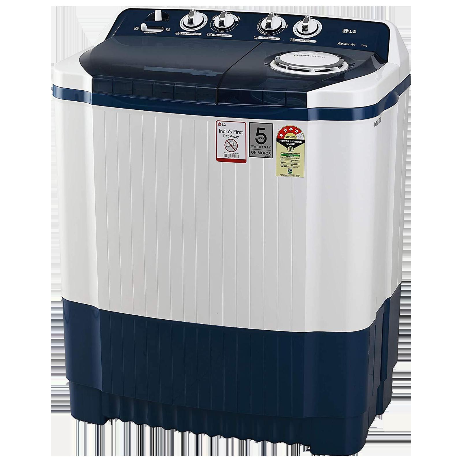LG 7 kg 4 Star Semi-Automatic Top Load Washing Machine (Auto Restart, P7025SBAY.ADBQEIL, Dark Blue)_3