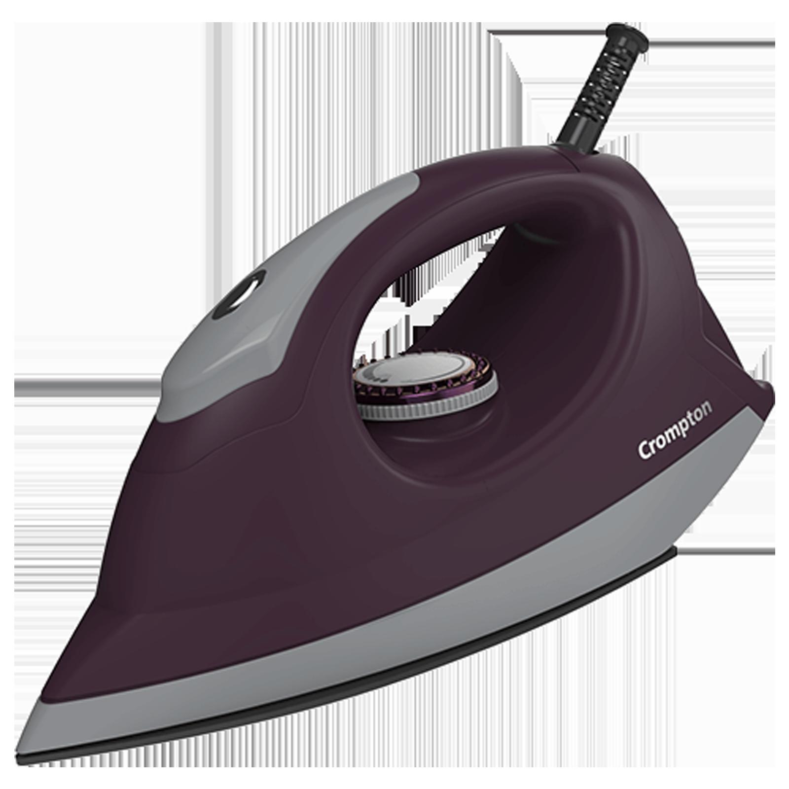Crompton Pebble 1100 Watts Dry Iron (6 Fabric Settings, ACGEI-PEBBLE, Purple)