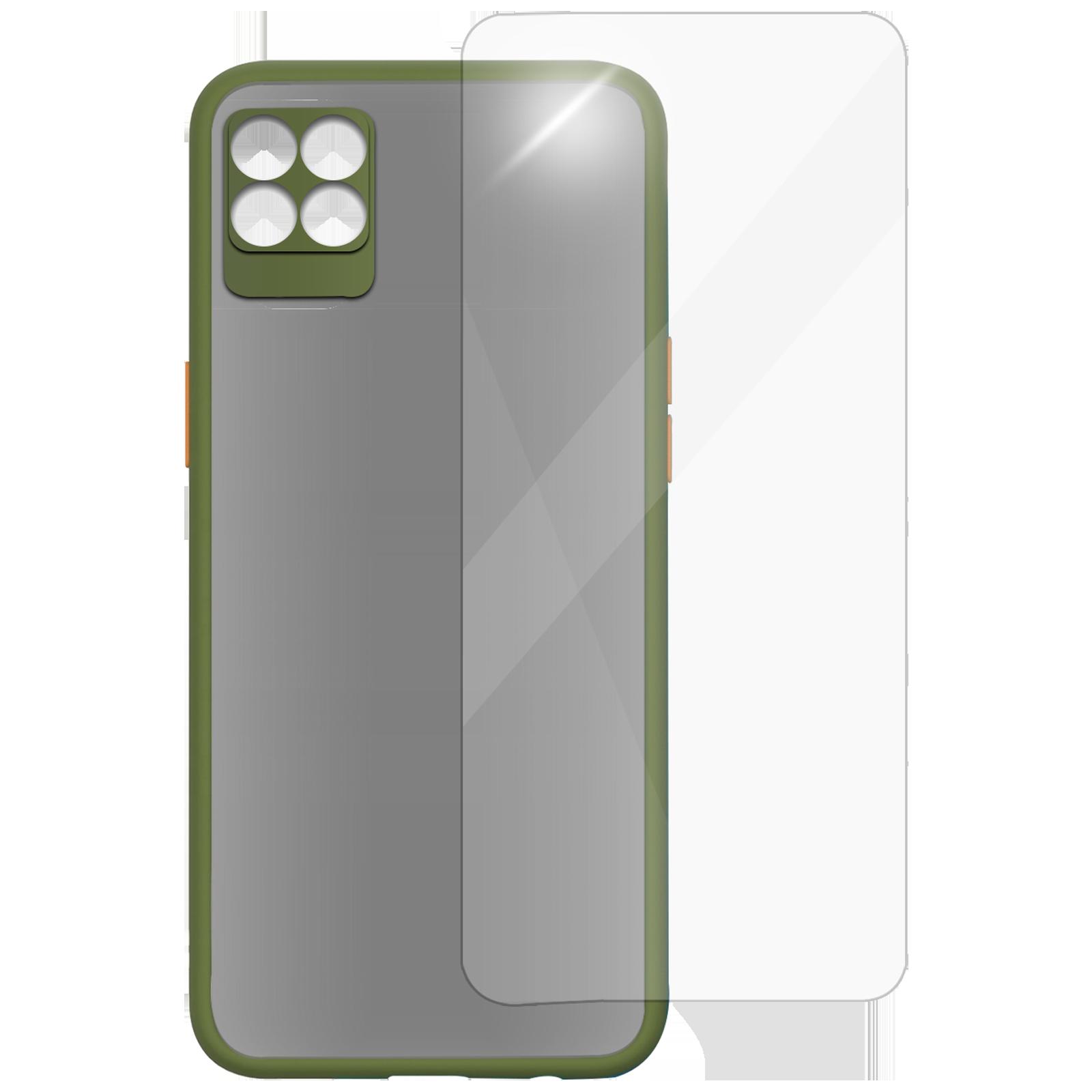 Arrow Camera Duplex Back Case and Screen Protector Bundle For Realme 8 Pro (Ultra Transparent Visibility, AR-1047, Light Green)_1