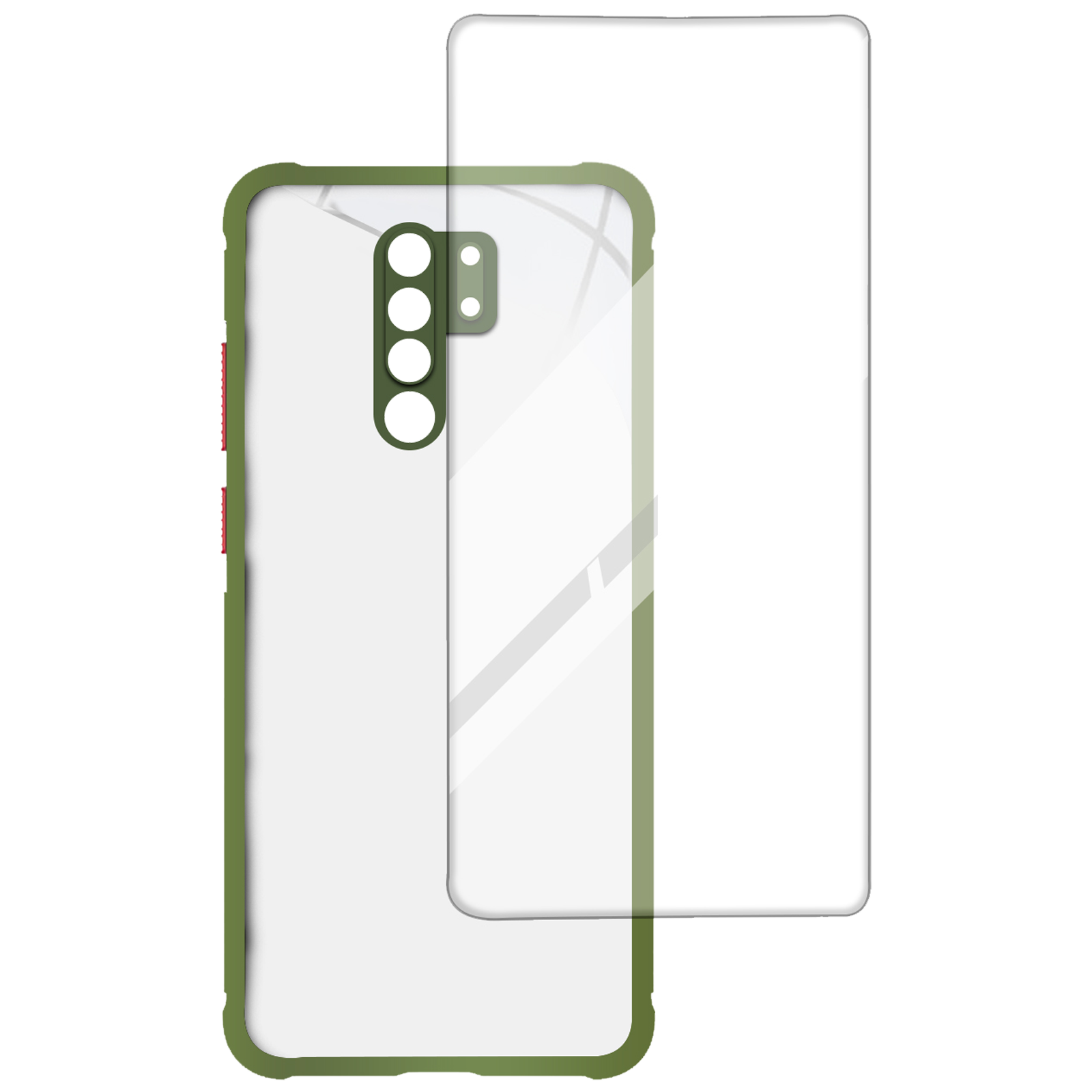 Arrow Hybrid Back Case and Screen Protector Bundle For Redmi 9 Prime (Ultra Transparent Visibility, AR-1022, Light Green)_1