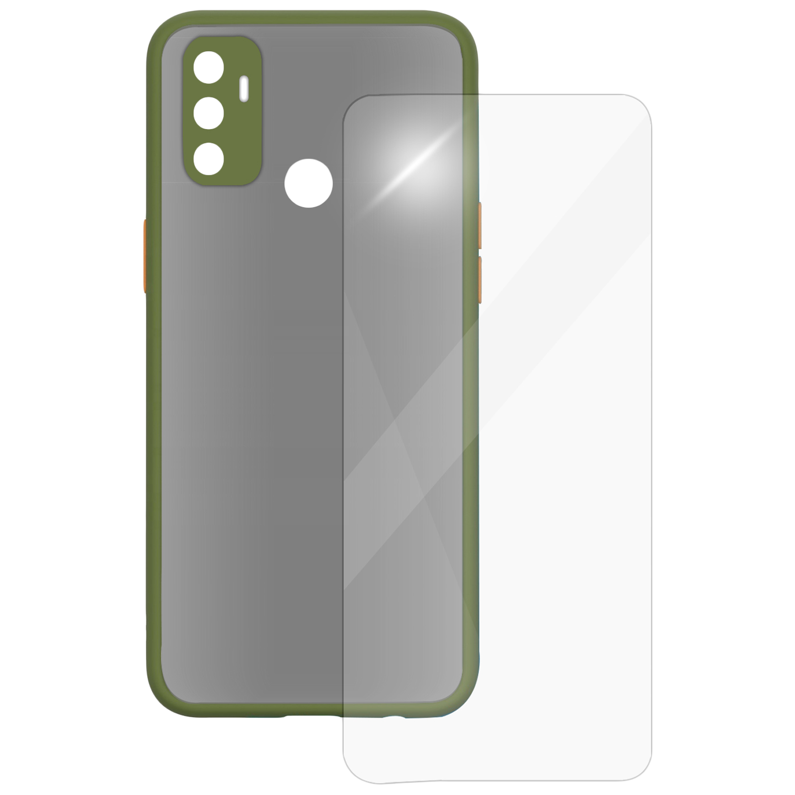 Arrow Camera Duplex Back Case and Screen Protector Bundle For Oppo A53 (Ultra Transparent Visibility, AR-962, Light Green)_1