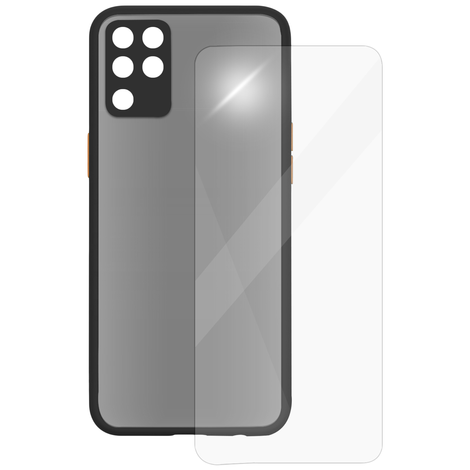 Arrow Camera Duplex Back Case and Screen Protector Bundle For Oppo F19 Pro (Ultra Transparent Visibility, AR-983, Black)_1