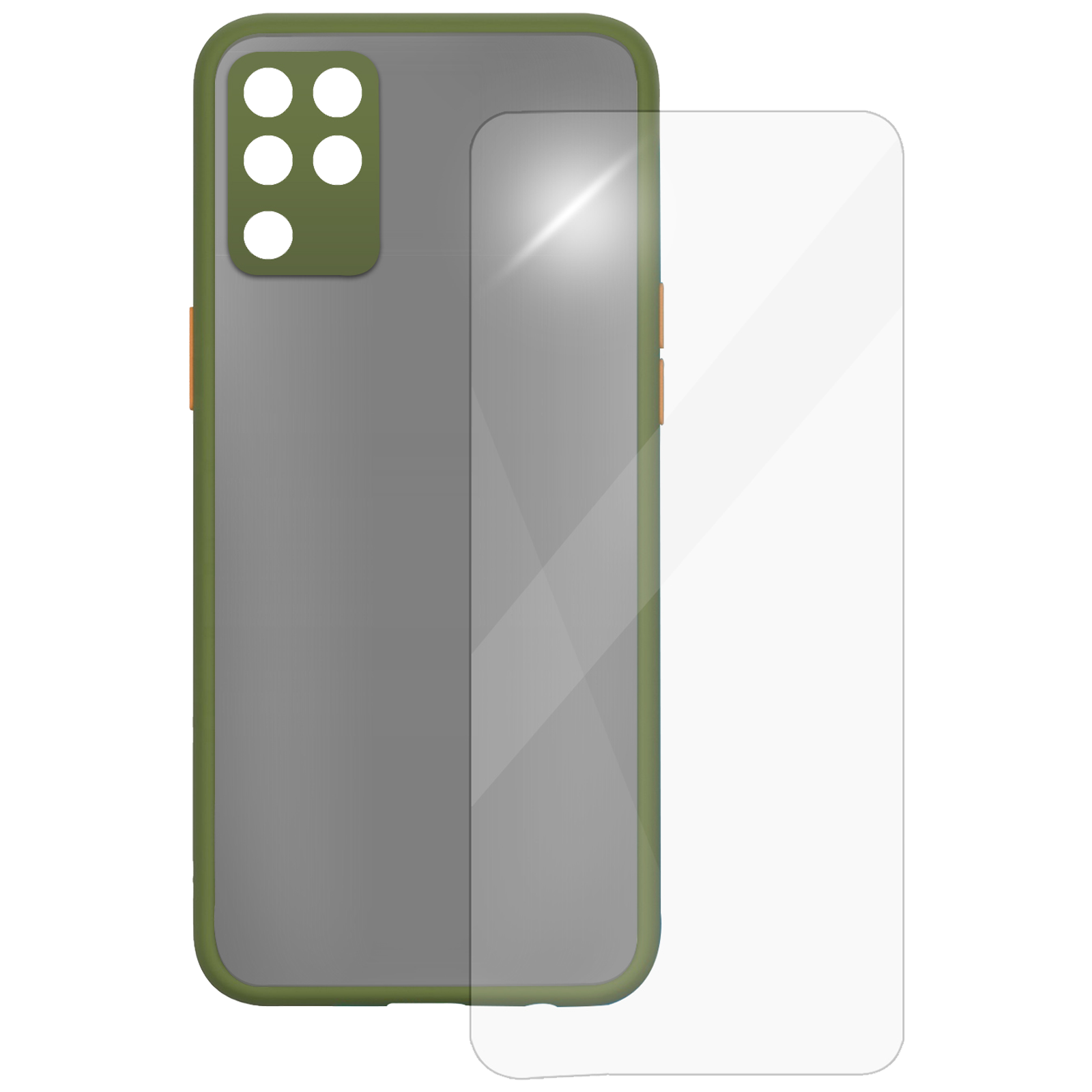 Arrow Camera Duplex Back Case and Screen Protector Bundle For Oppo F19 Pro (Ultra Transparent Visibility, AR-987, Light Green)_1