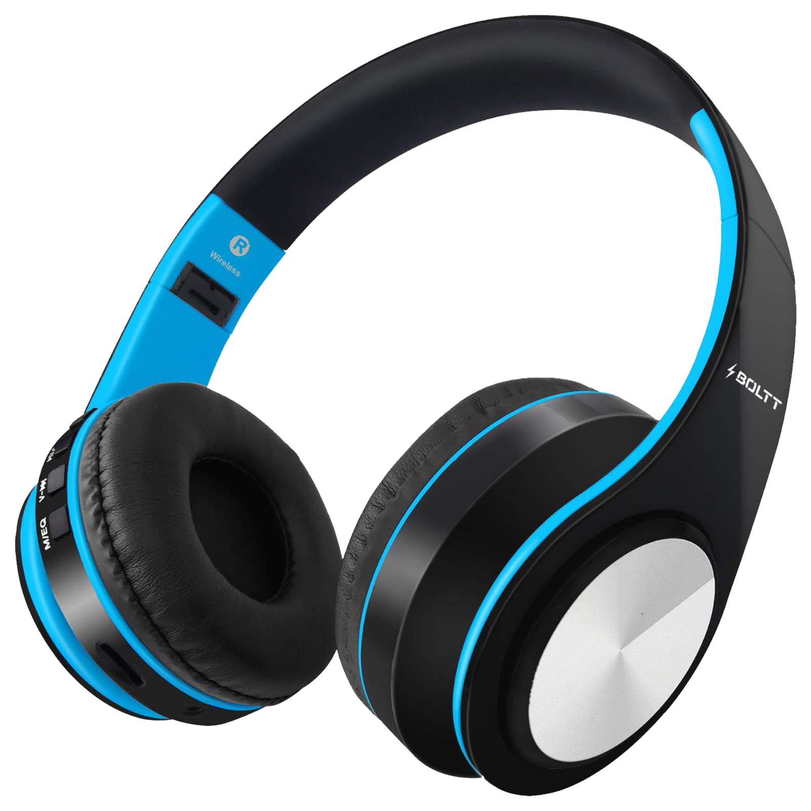 Fire-Boltt BH1001 On-Ear Noise Isolation Wireless Headphone with Mic (Bluetooth 5.0, Exceptional Sound with Great Bass, BH1000, Blue)_1