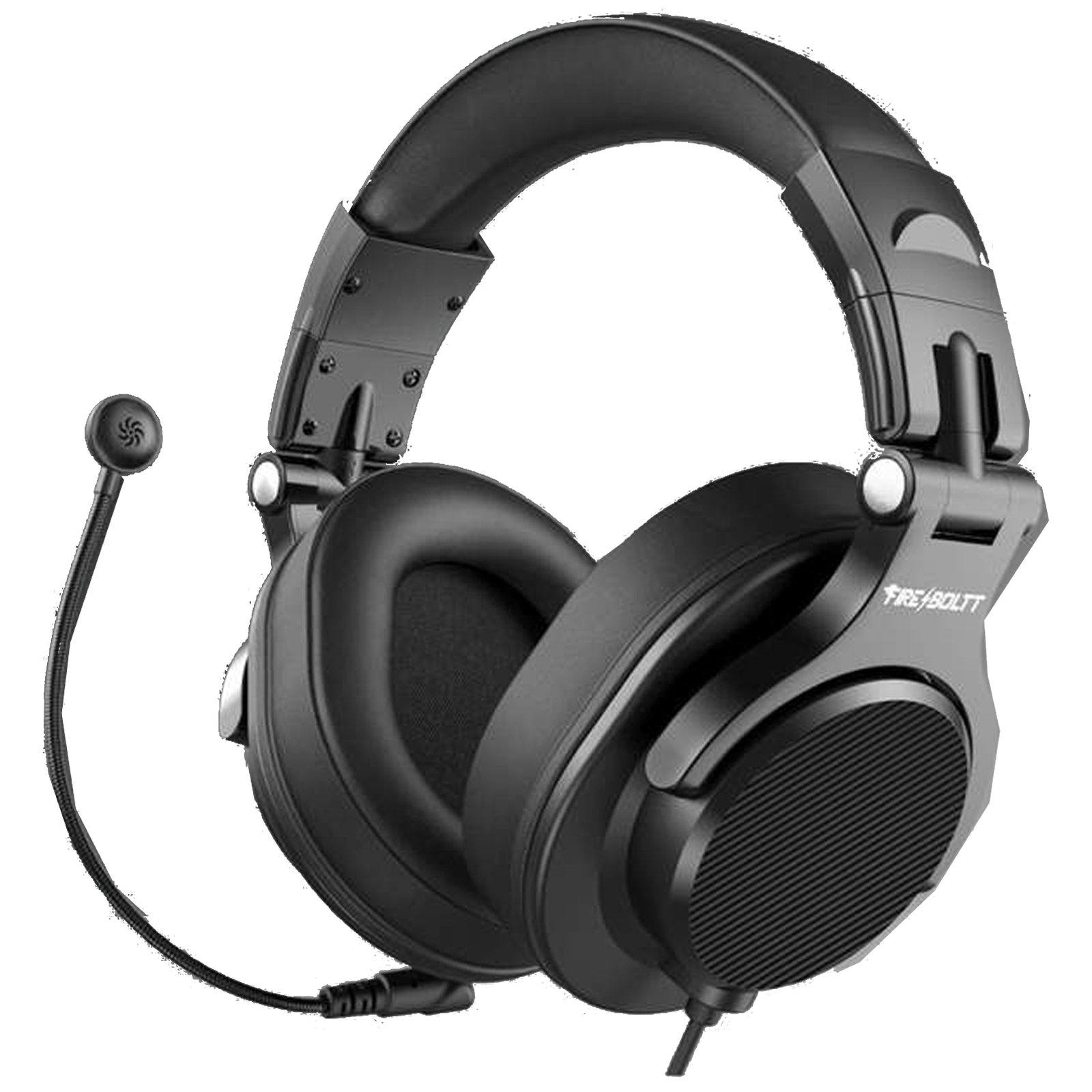Fire-Boltt 13BWHAAY#1 Over-Ear Wired Headphone with Mic (90 Degree Rotating Ear Cups, BWH1300, Black)_1