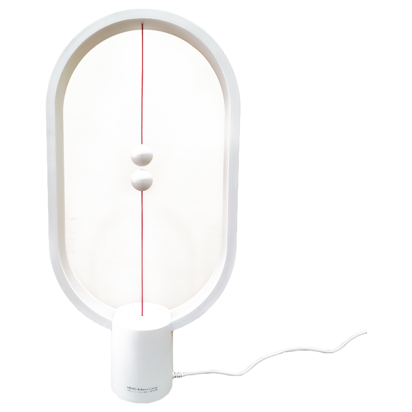 DesignNest Heng Balance 5 Watts LED Table Lamp (249 Lumens, 20000 Hours Life Span, DH0075WT/HBLEUC, White)_1