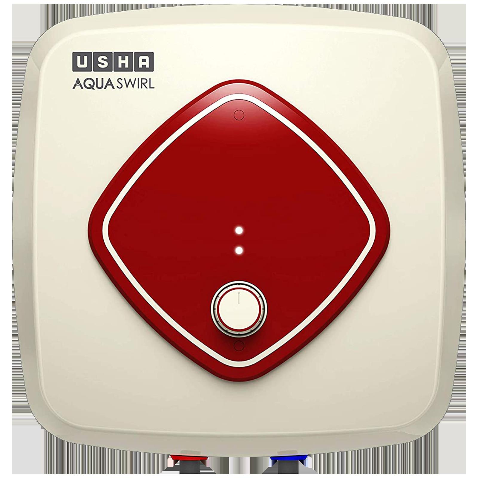 Usha Aqua Swirl 15 Litres 5 Star Storage Water Geyser (2000 Watts, 4687AS15AX159N, Ivory Wine)_1