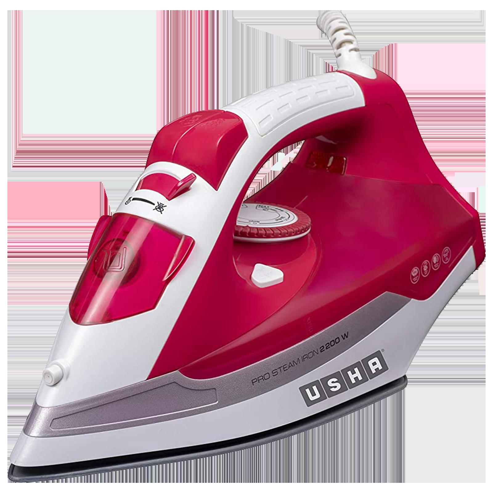 Usha Grand Jet 2200 Watts 400ml Steam Iron (Detachable Water Tank, GJ2200CS, Pink)_1
