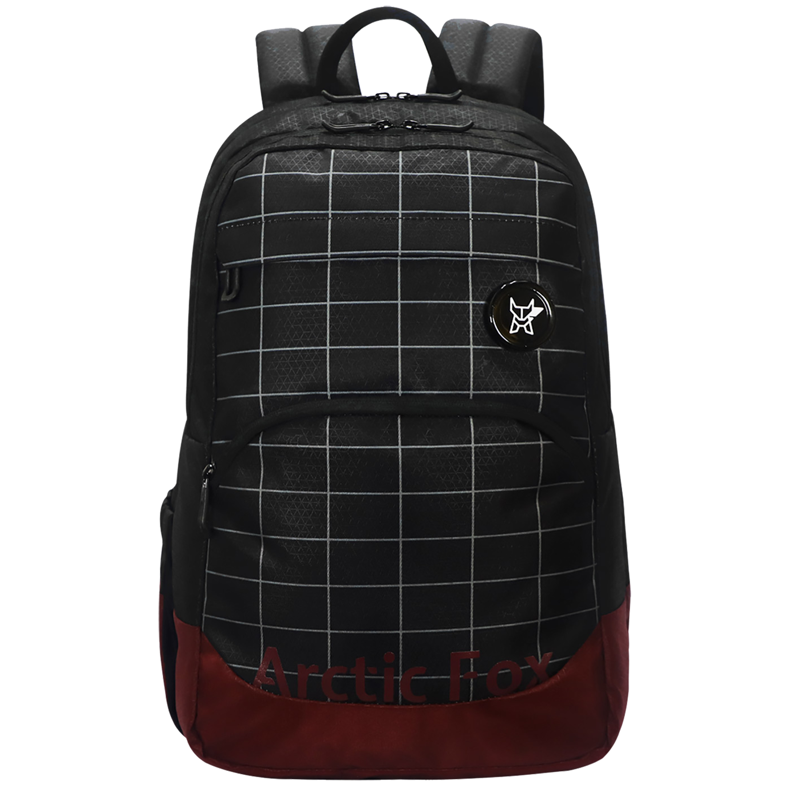 Arctic Fox Grid 33 Litres Polyester Backpack for 15 Inch Laptop (Spacious Padded Compartment, FUNBPKBLKWZ092033, Black)_1