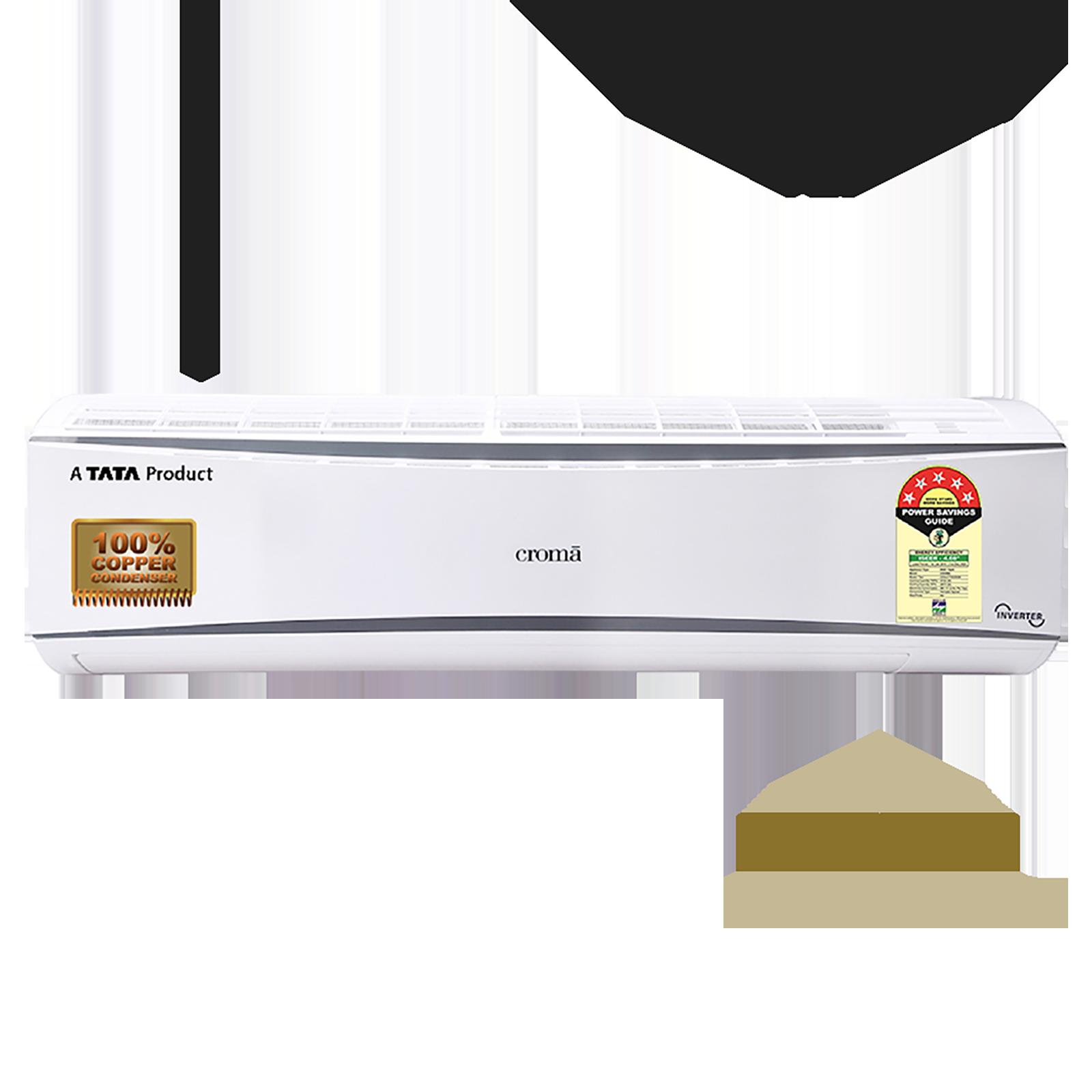 Croma 1.5 Ton 5 Star Inverter Split AC (Copper Condenser, CRAC7705, White/Cool Grey)_1