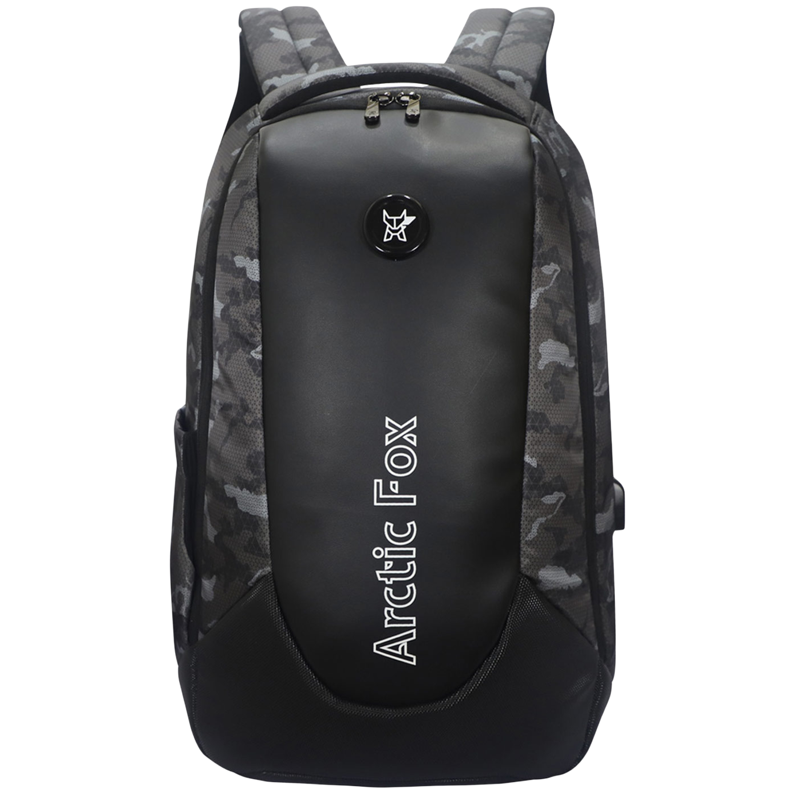 Arctic Fox Alarm Anti-Theft 35 Litres Polyester Backpack for 15 Inch Laptop (USB Charging Port, FUNBPKGRYON211035, Camo Black)_1
