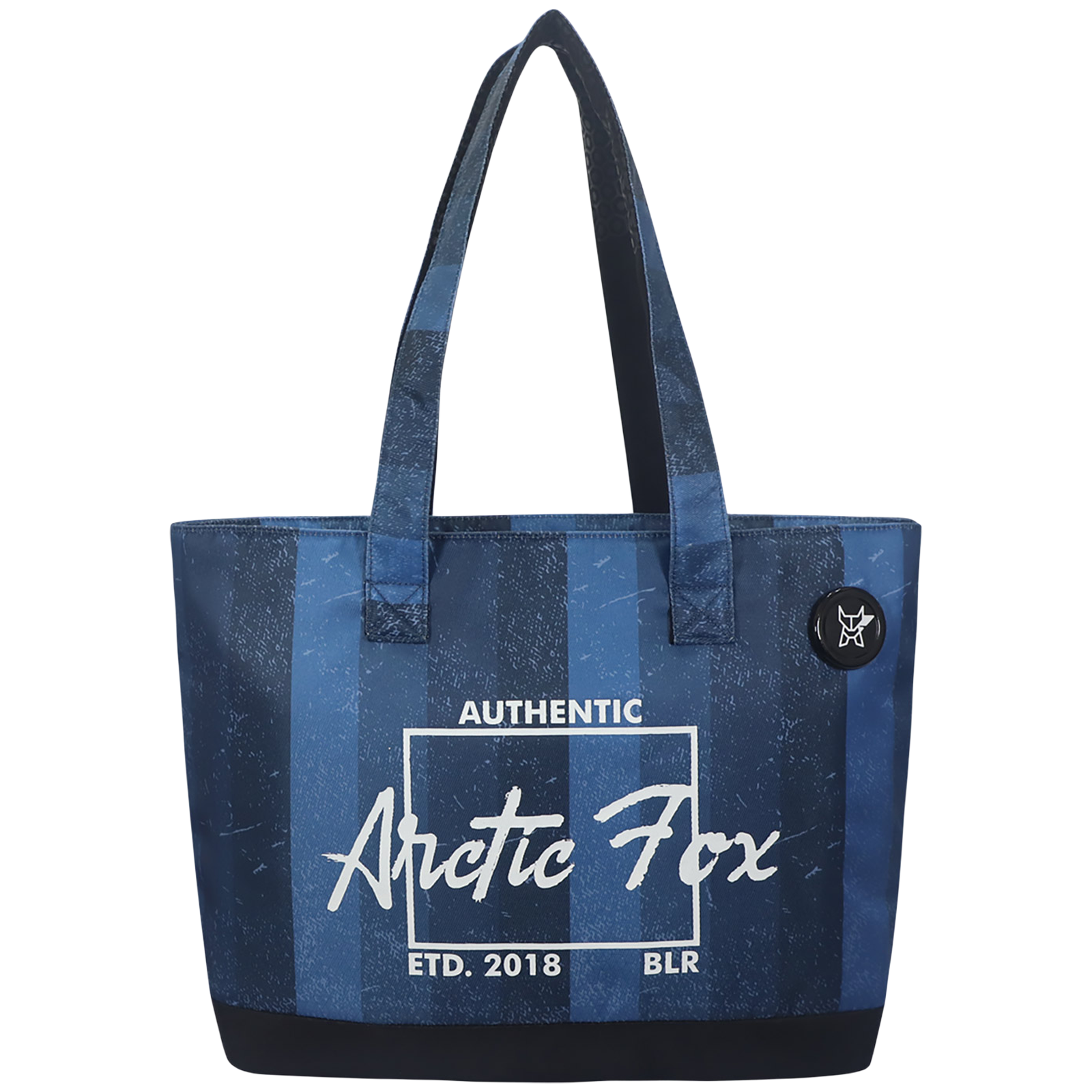 Arctic Fox 15 Litres Polyester Tote Bag for 15 Inch Laptop (Spacious Padded Compartment, FUNSLIDDVWZ099015, Blue)_1