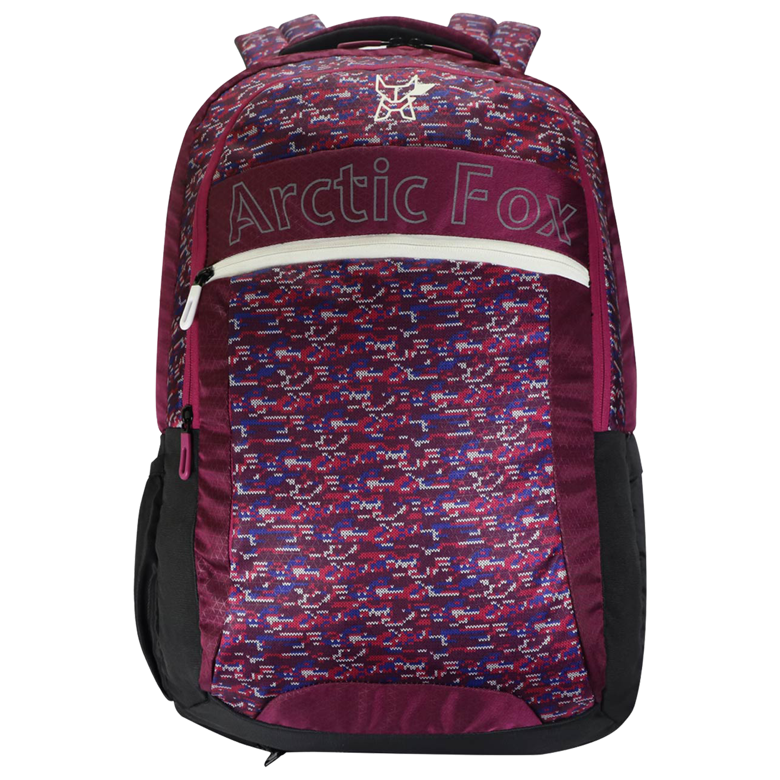 Arctic Fox Knitted Heather 38 Litres Polyester Backpack for 15 Inch Laptop (Adjustable Straps, FUNBPKRRRON095039, Purple)_1