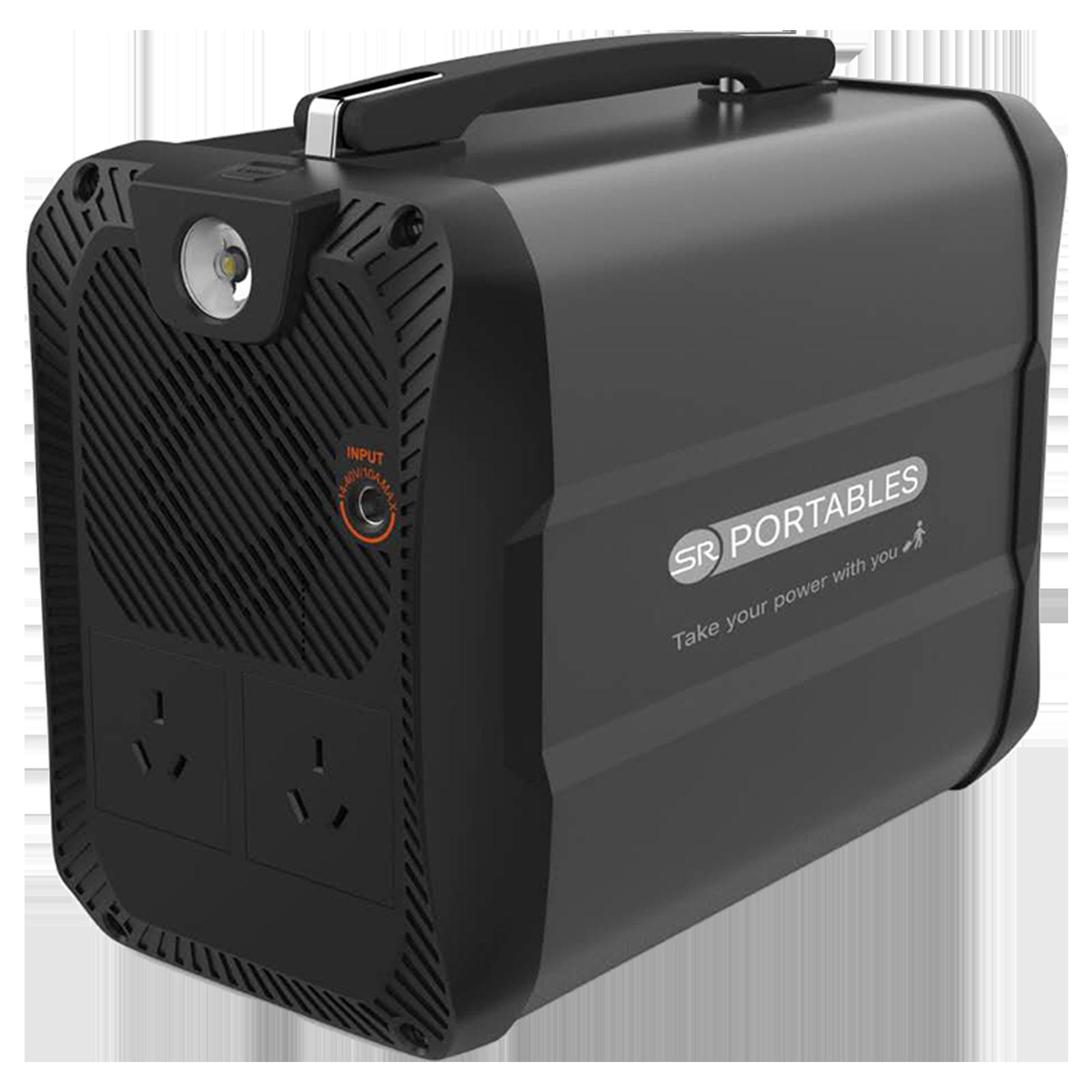 SR Portables Cleo 400Wh 300 Watts Portable Solar Generator (Water Resistant, SRCLEOSG, Black)_1