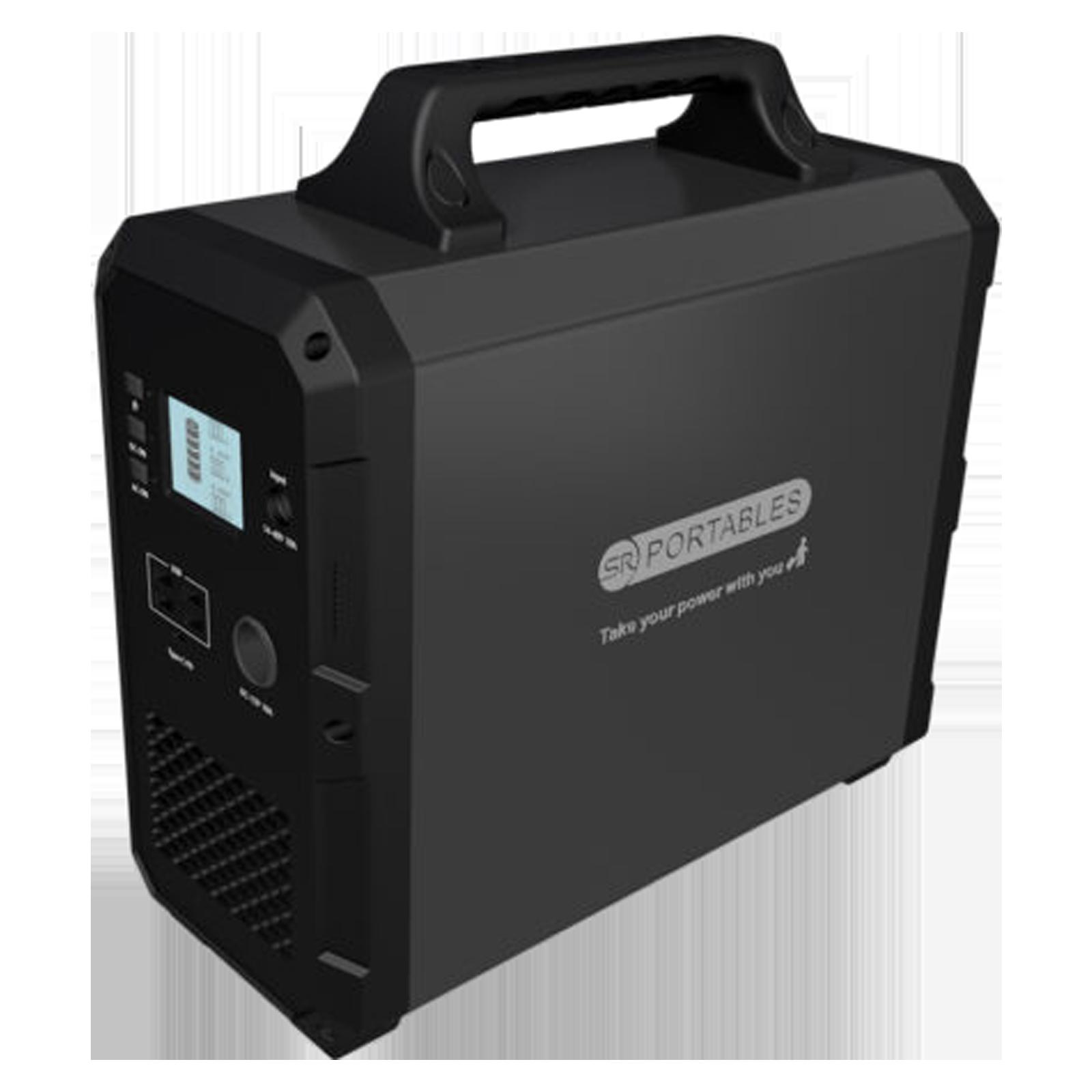 SR Portables Minotaur 1500Wh 1000 Watts Portable Solar Generator (Water Resistant, SRMINOTR, Black)_1