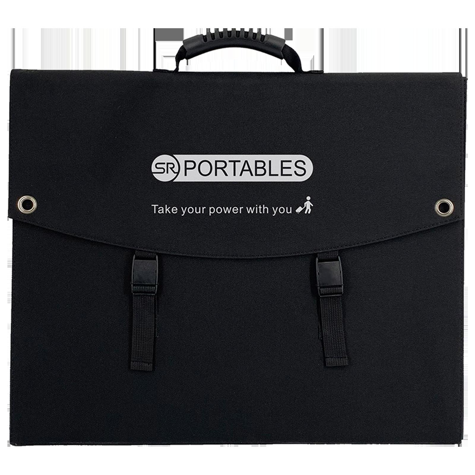 SR Portables 100 Watts Portable Solar Panel (Water Resistant, SRSOLPAN100, Black)_1